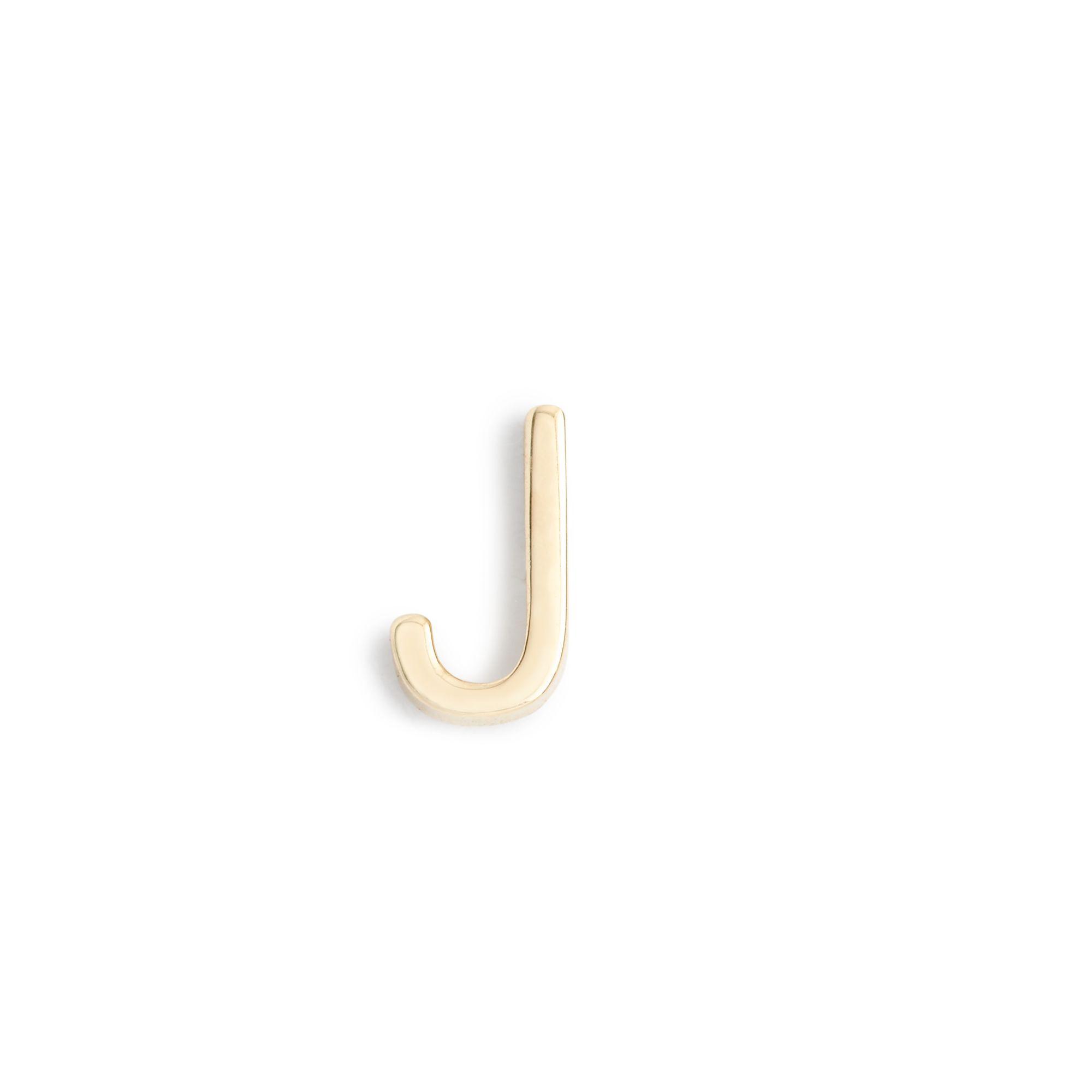 jcrew maya brennerr 14k gold letter earring in gold With letter j earrings