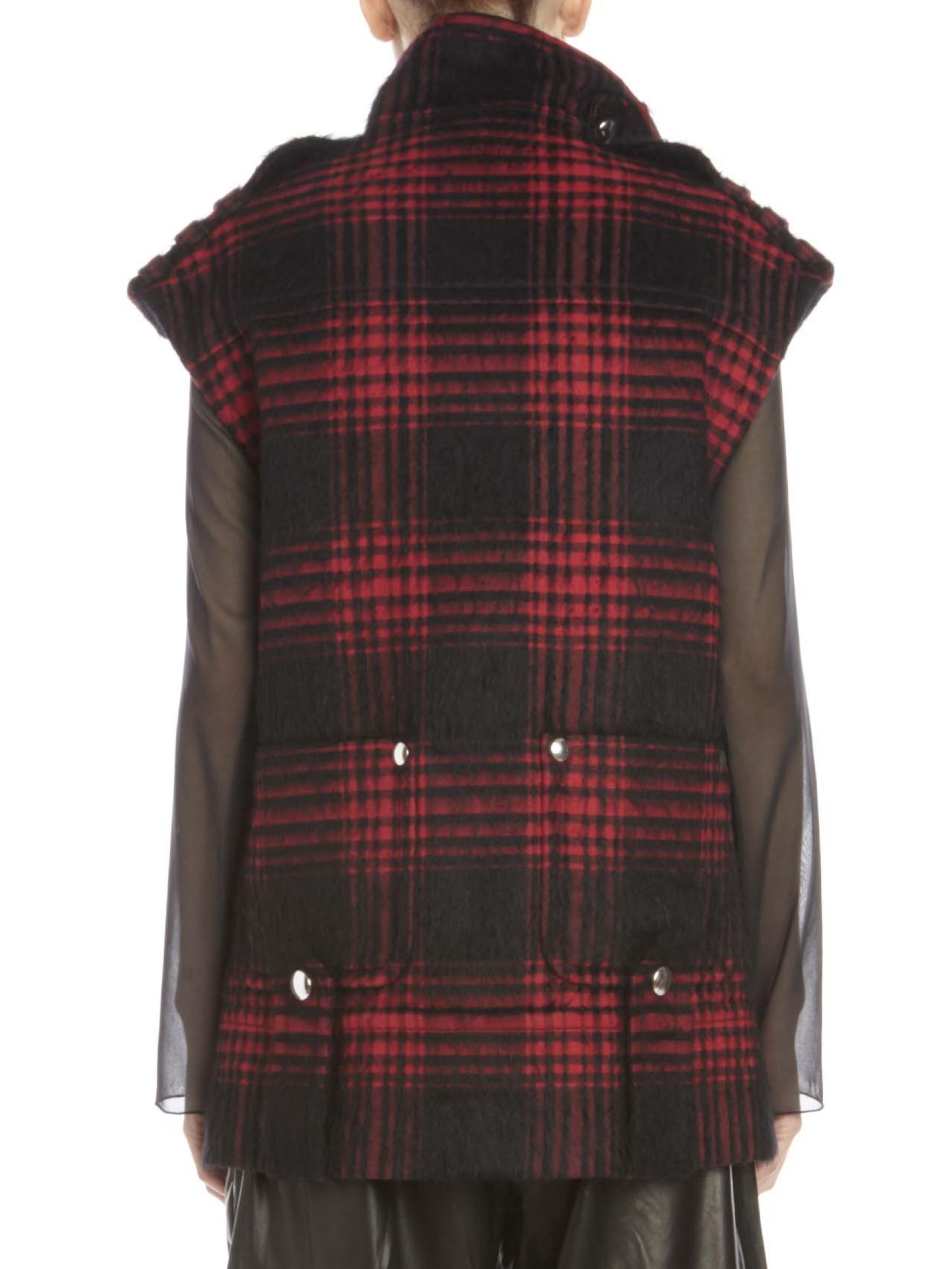alexander wang buffalo plaid vest in red lyst. Black Bedroom Furniture Sets. Home Design Ideas
