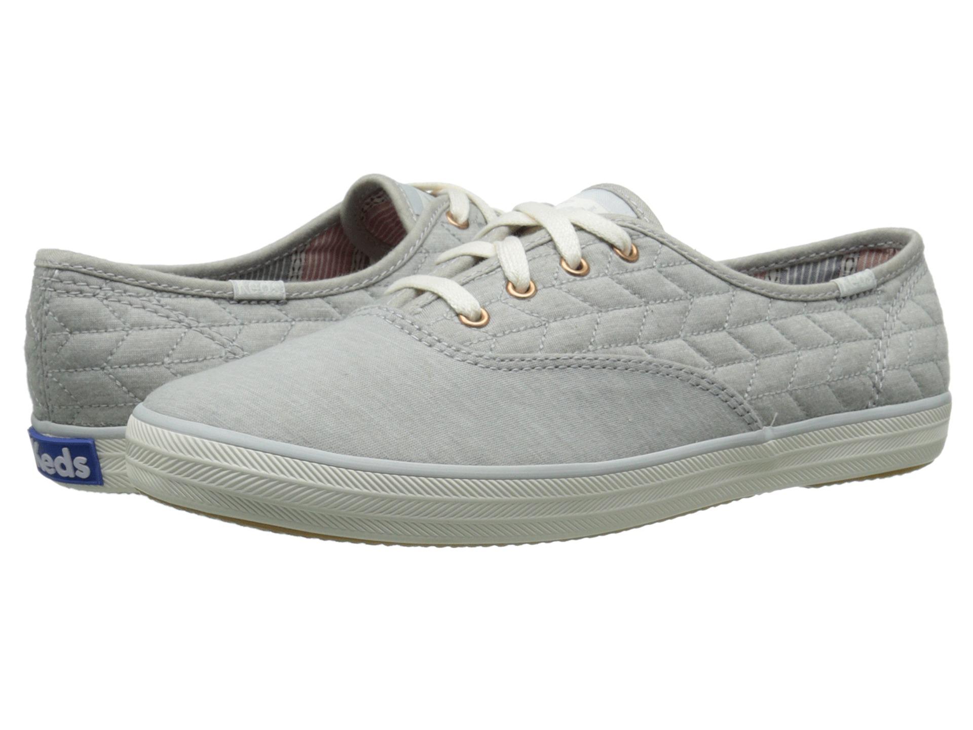 keds champion grey quilt jersey sneaker