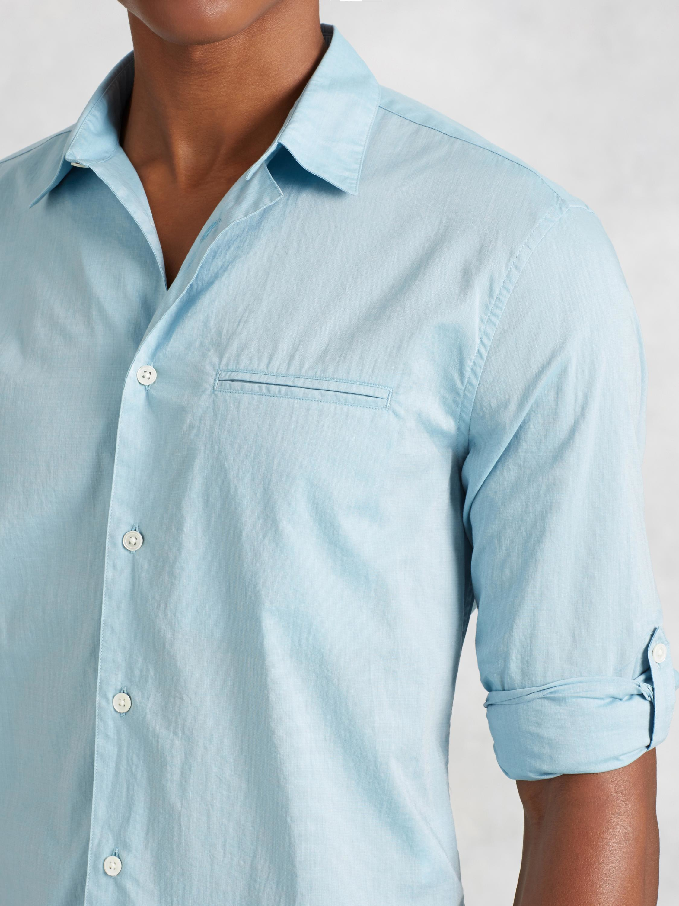 John varvatos Roll Sleeve Button-up Shirt in Blue for Men | Lyst