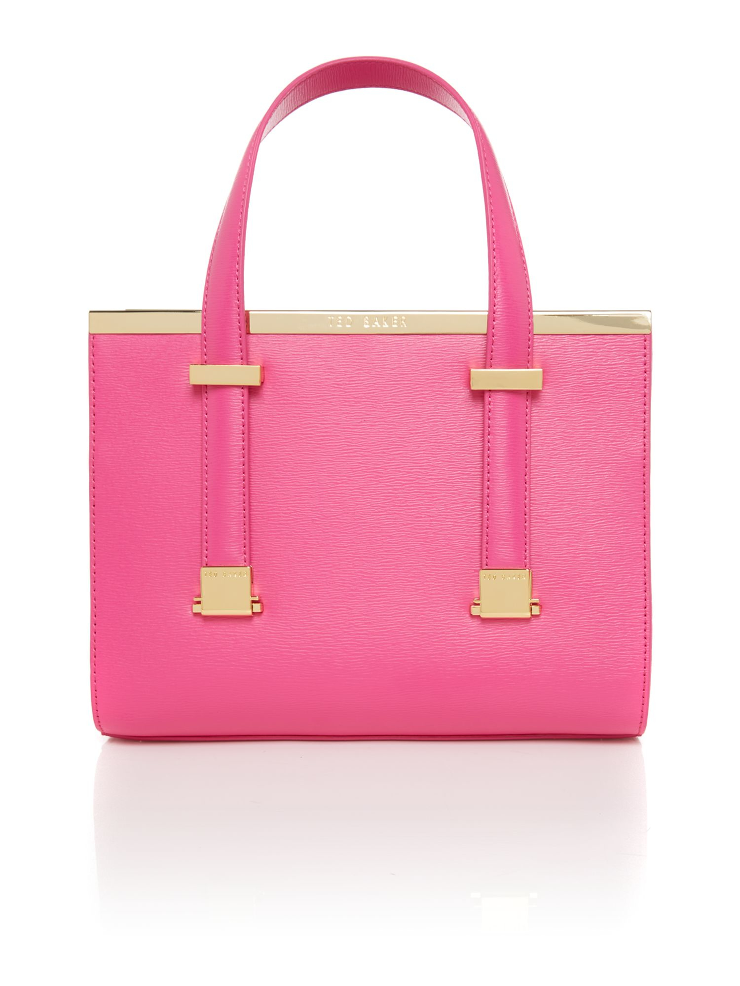 Lyst Ted Baker Cristie Bright Pink Metal Bar Tote Bag In