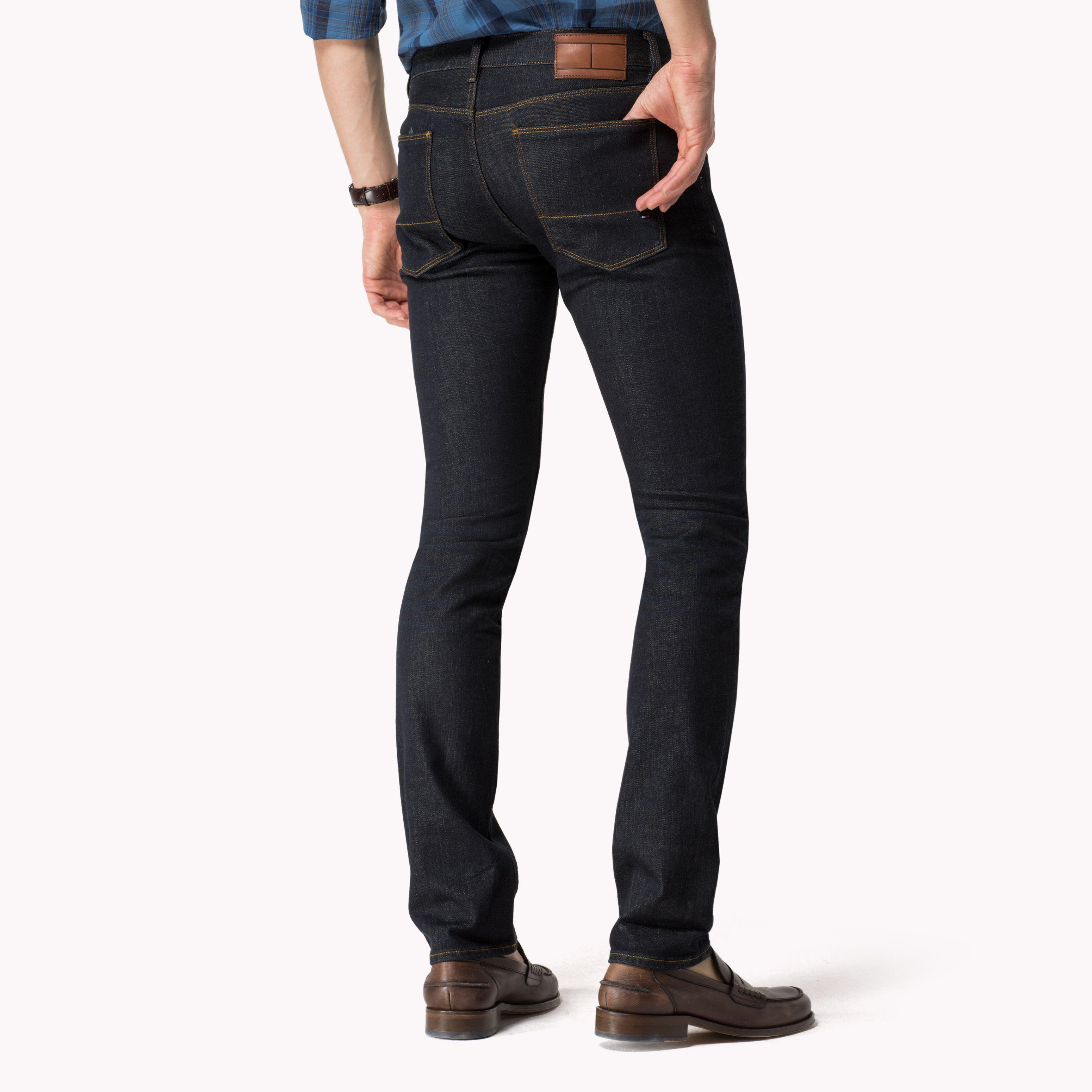 tommy hilfiger hudson dark wash mid rise jeans in blue for men lyst. Black Bedroom Furniture Sets. Home Design Ideas