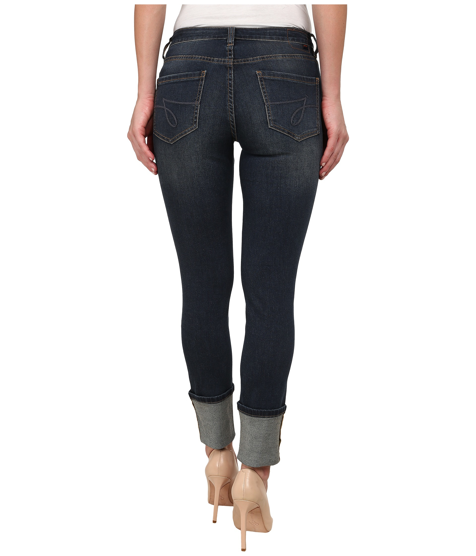 Jag jeans Evan Long Cuff Mid Rise Slim Ankle Capital Denim In ...