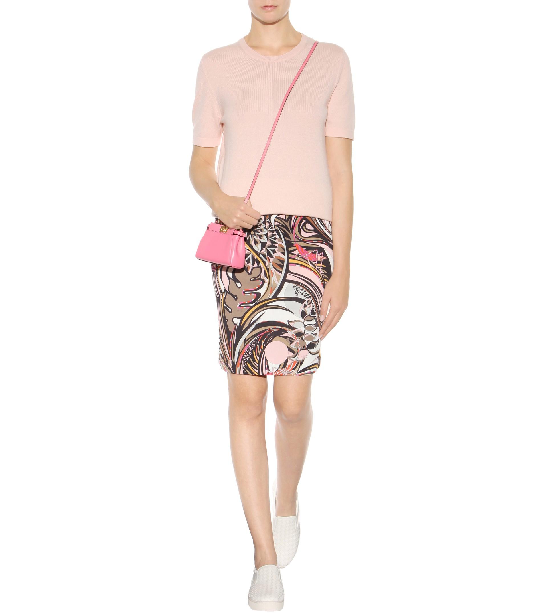 beaf53b526b3 Lyst - Fendi Micro Peekaboo Leather Shoulder Bag in Pink
