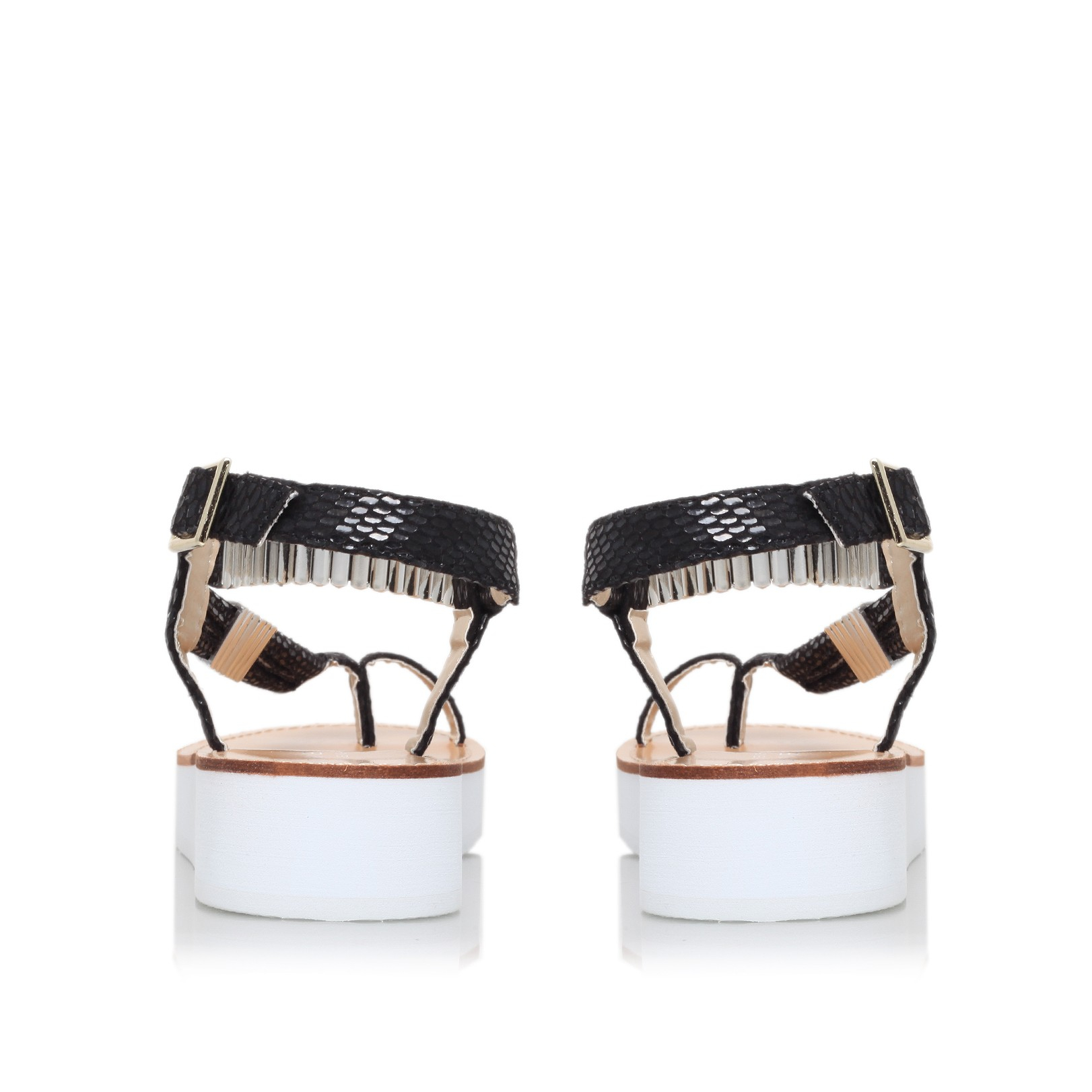 Black sandals kurt geiger