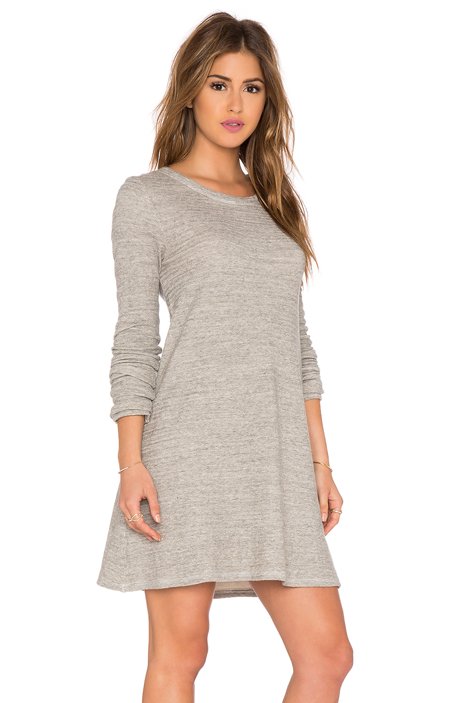 Cp shades mercedes sweater tunic dress in gray lyst for Mercedes benz sweater