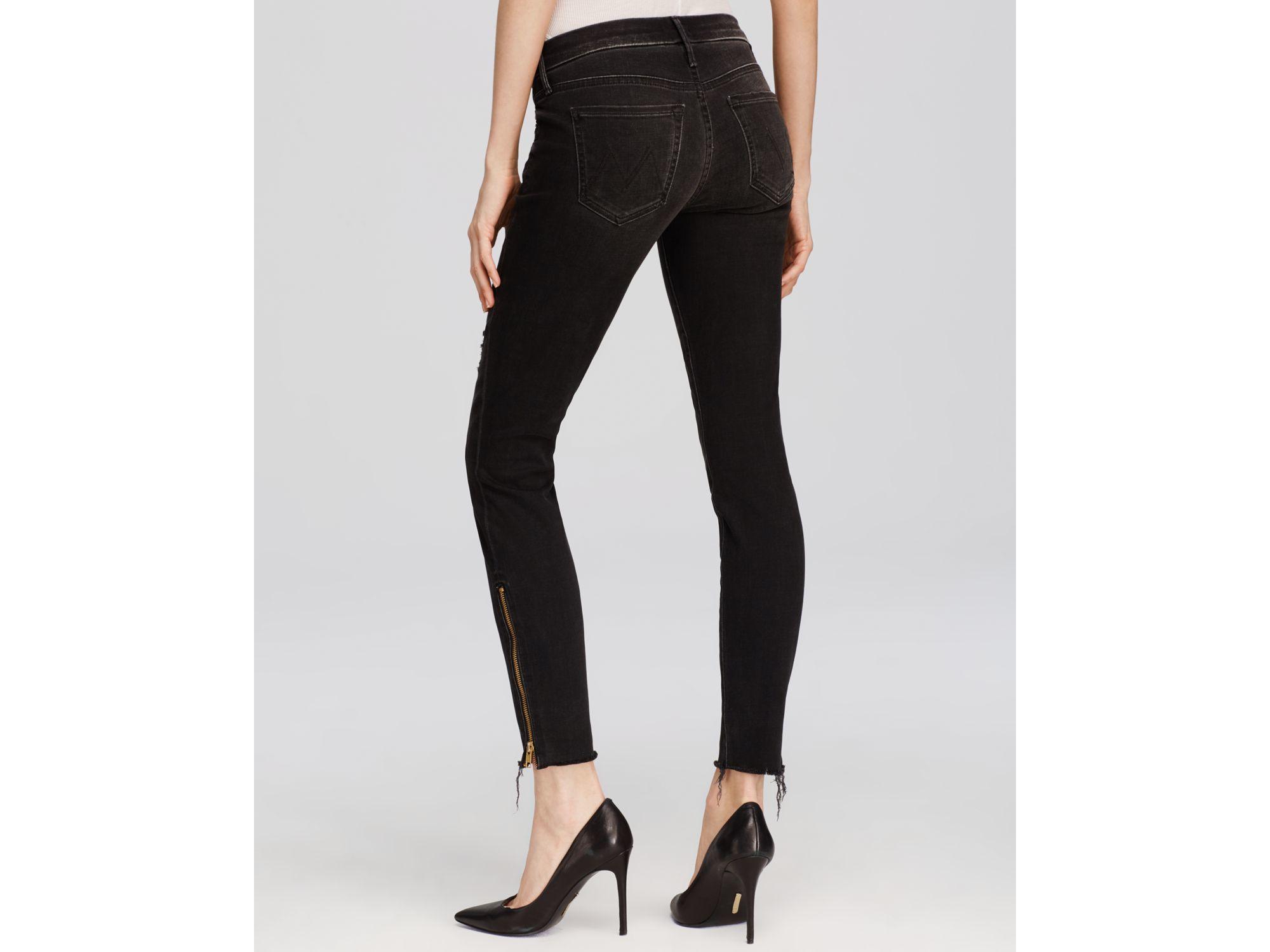 Looker Mid-rise Skinny Jeans - Dark denim Mother xMQbAK46l