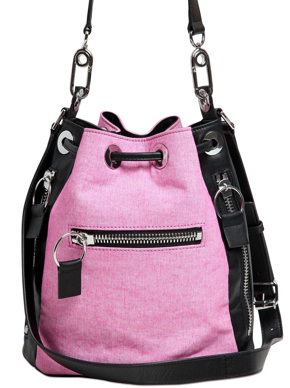96e99565e0 KENZO Kanvas Denim & Leather Bucket Bag in Purple - Lyst