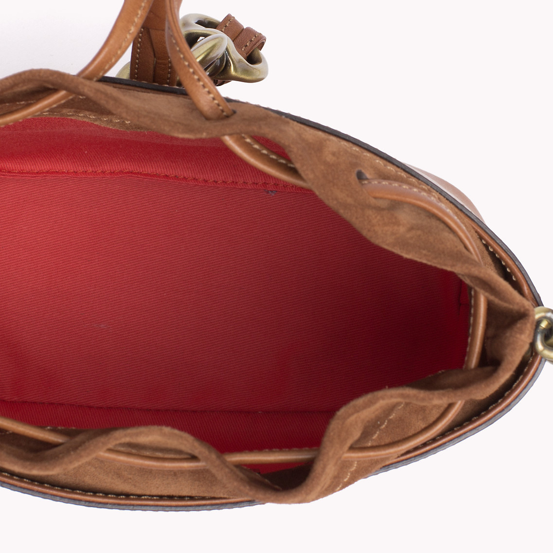 tommy hilfiger small bucket bag in brown lyst. Black Bedroom Furniture Sets. Home Design Ideas