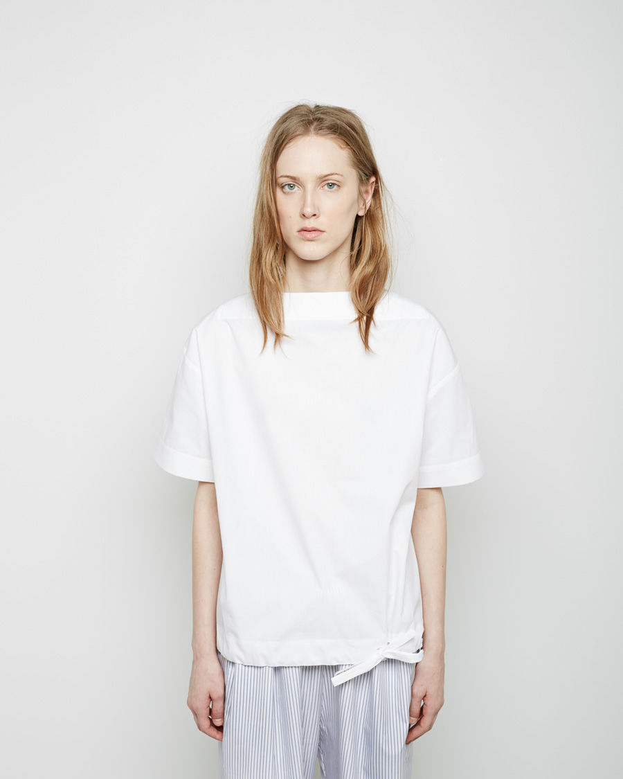 lyst jacquemus le t shirt marin in white. Black Bedroom Furniture Sets. Home Design Ideas