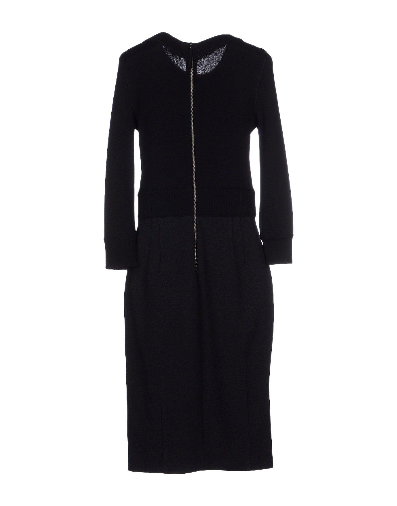 Dolce amp gabbana knee length dress in black lyst