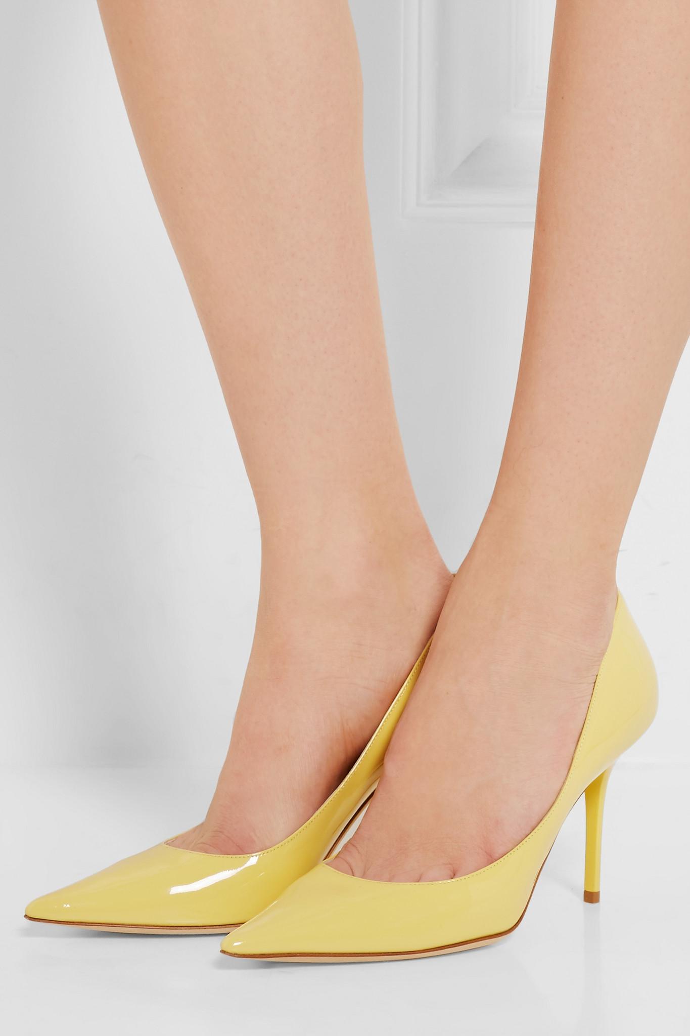 Pastel Yellow Heels - Is Heel