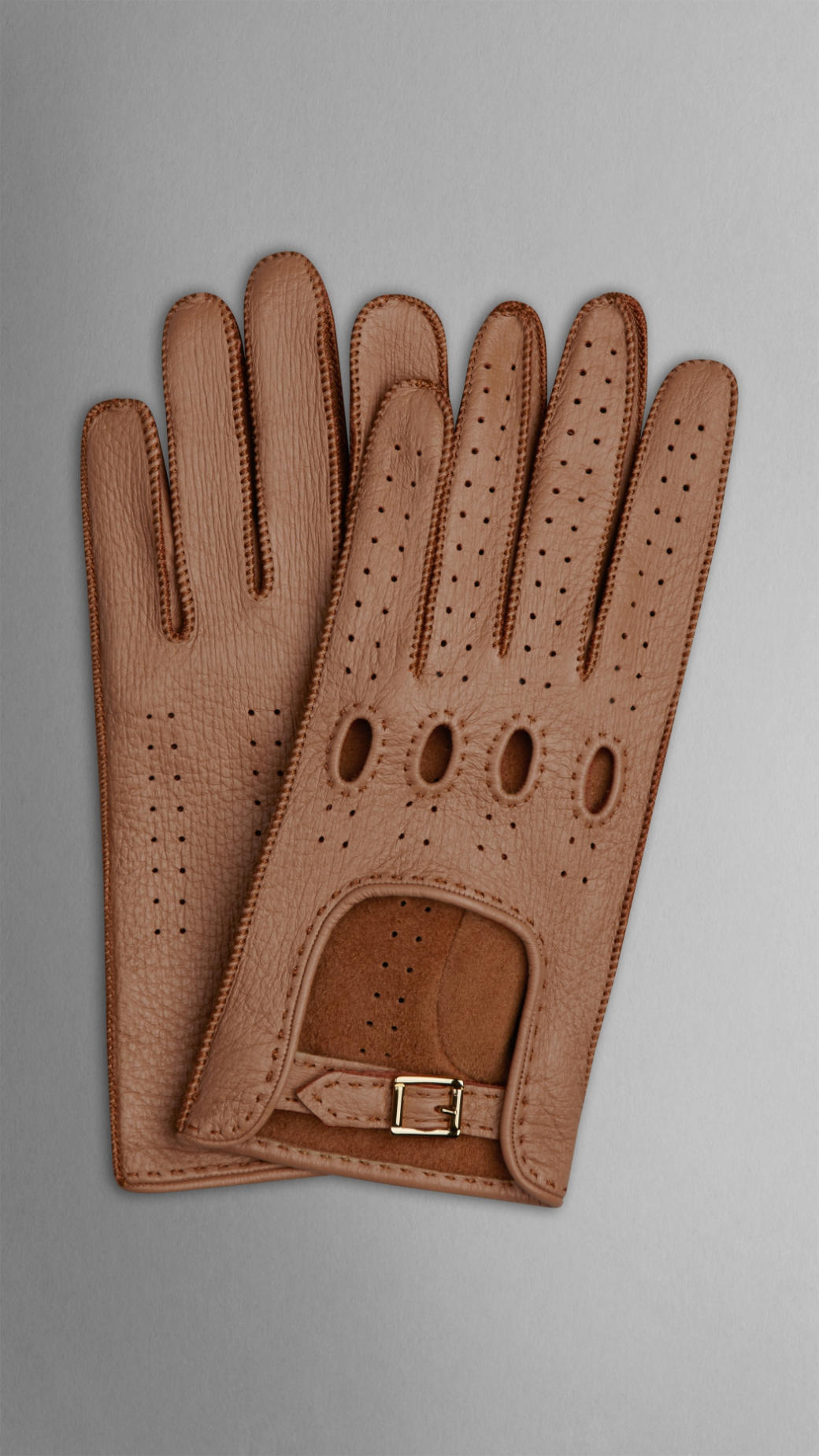 Wheelskins leather driving gloves -  Burberry Deerskin Driving Gloves In Brown Lyst