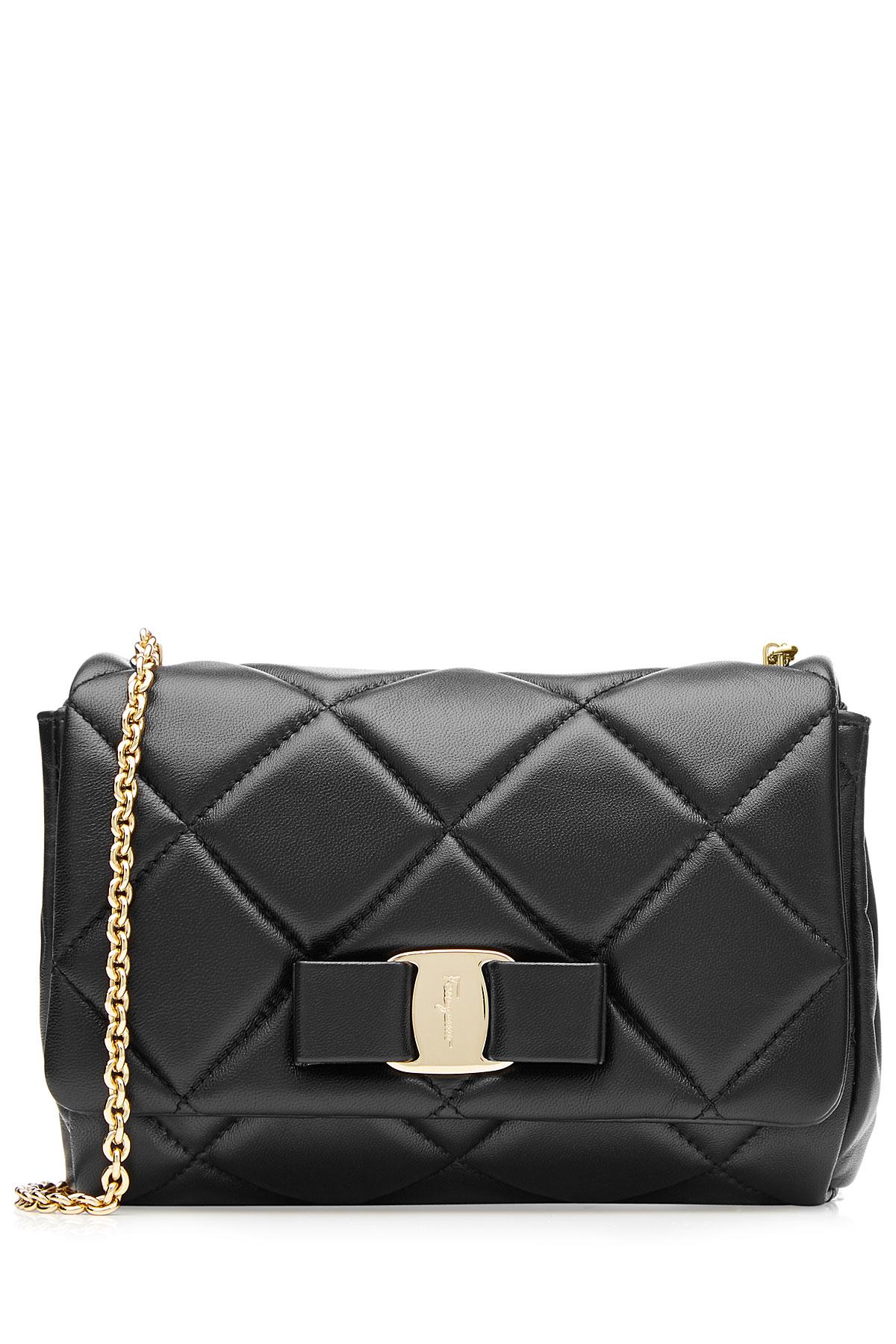 fab59ae93a26 Lyst - Ferragamo Small Aileen Zigzag Suede Shoulder Bag in Black