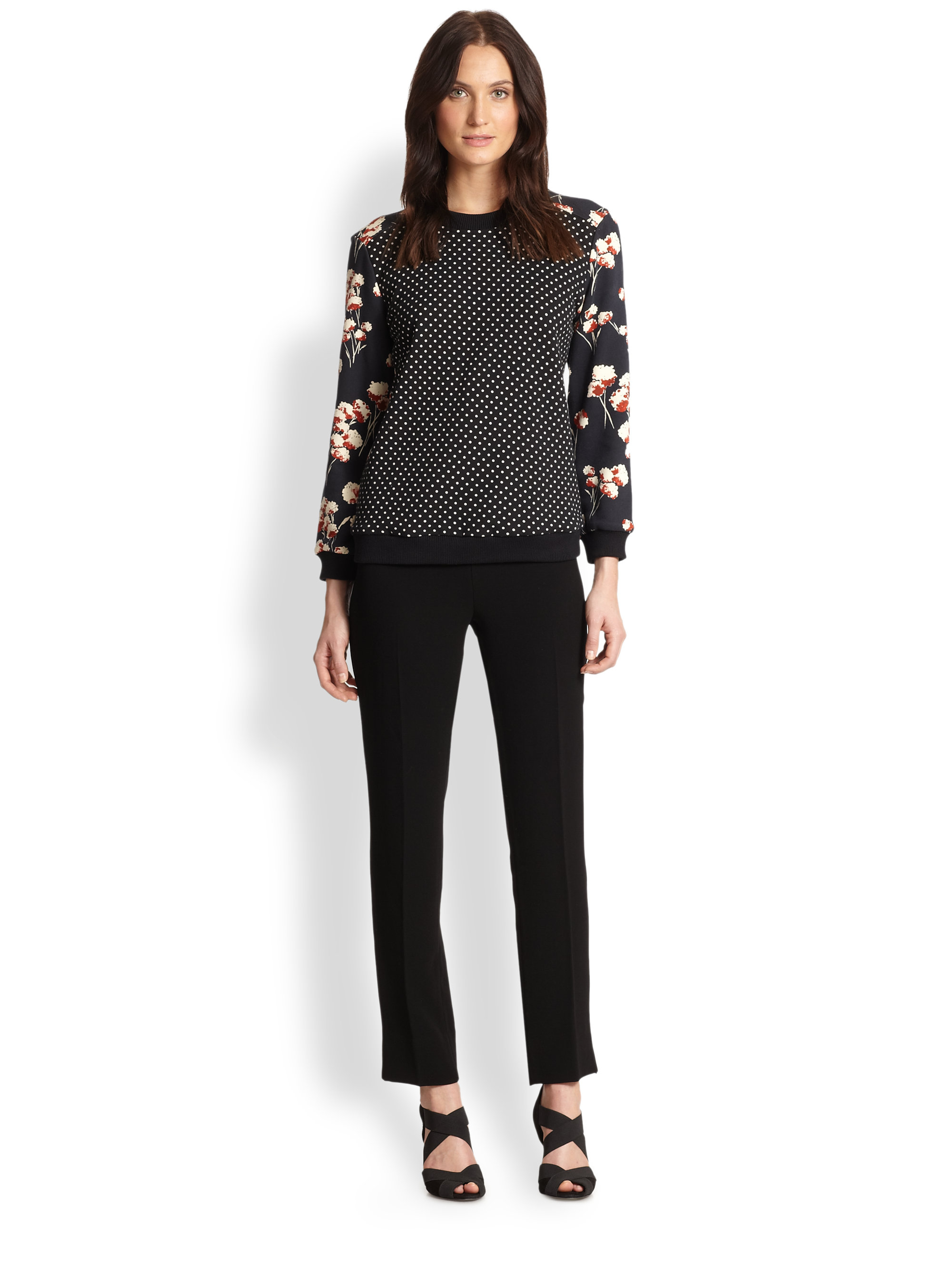 Lyst tory burch ronnie pullover for Tory burch fashion island