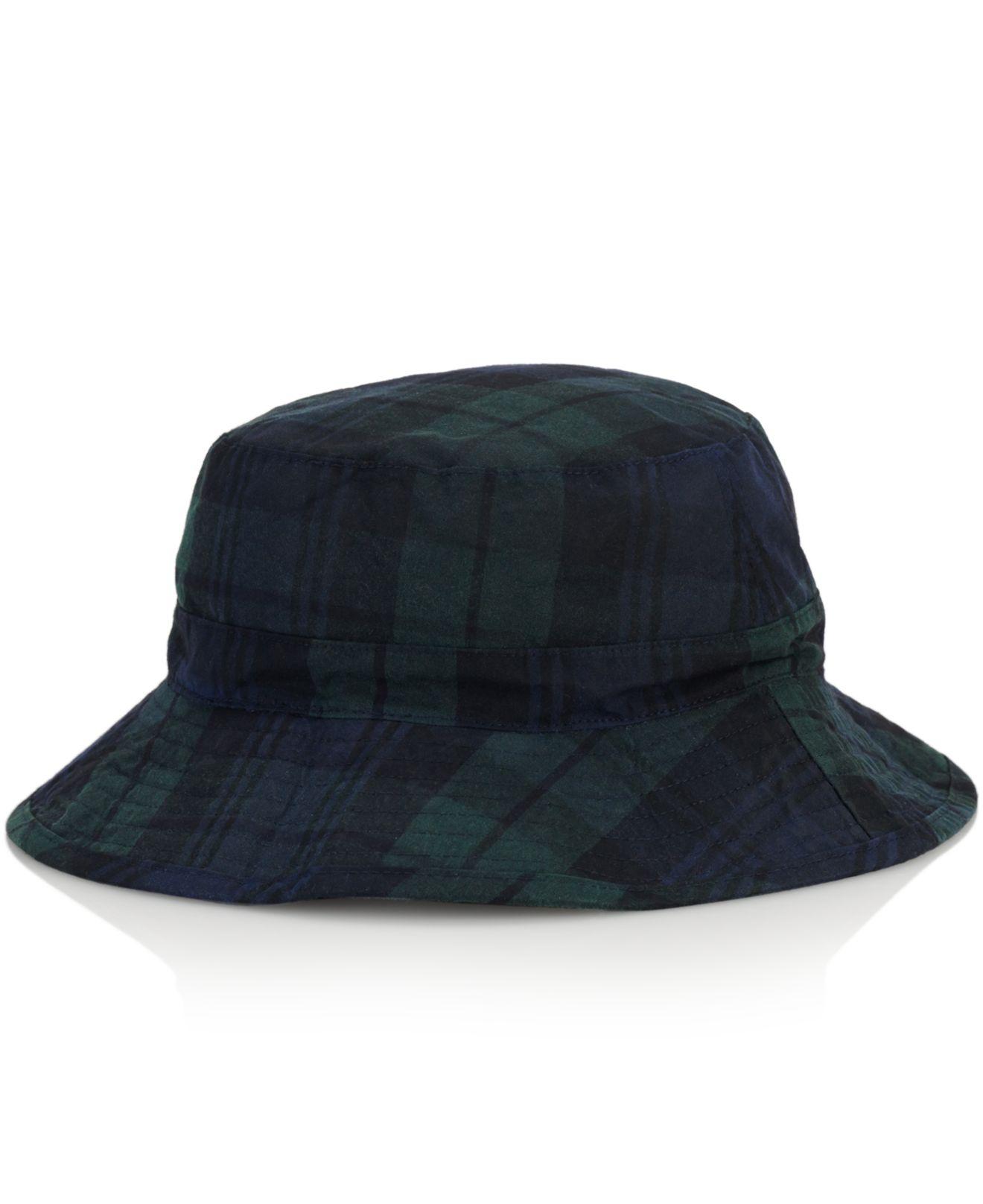 c18ffd0e368 Polo Ralph Lauren Tartan Oilcloth Bucket Hat in Black for .