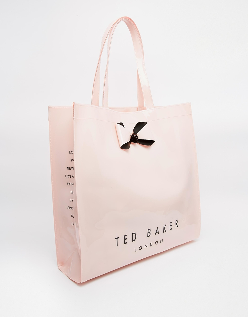 1a45f39c8a Ted Baker Plain Bow Large Icon in Pink - Lyst