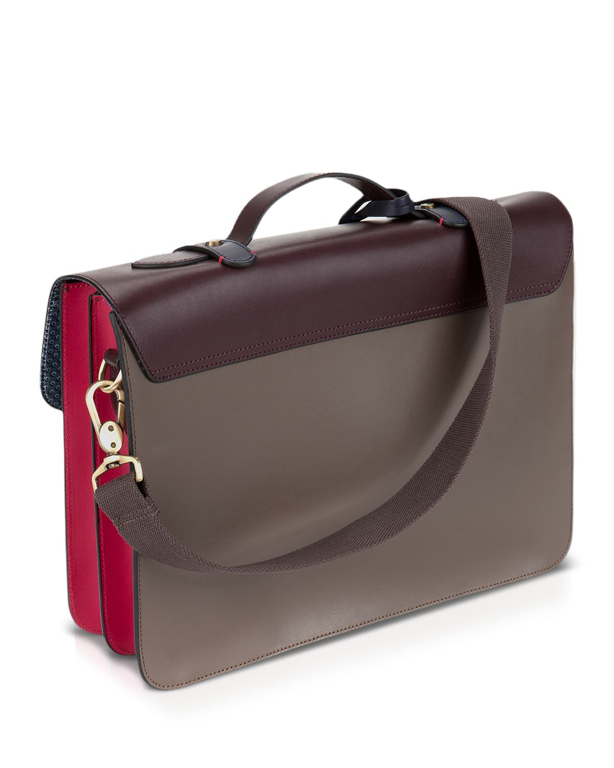e8aead387 Lyst - Ted Baker Harlemm Colour Block Leather Satchel Bag in Gray ...