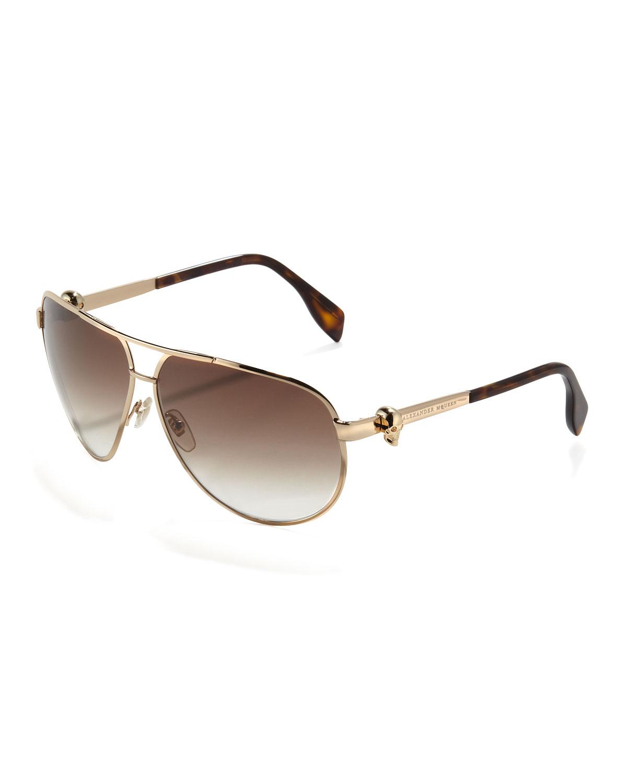 Mens Alexander Mcqueen Sunglasses  mens alexander mcqueen sunglasses gold 6am mall com