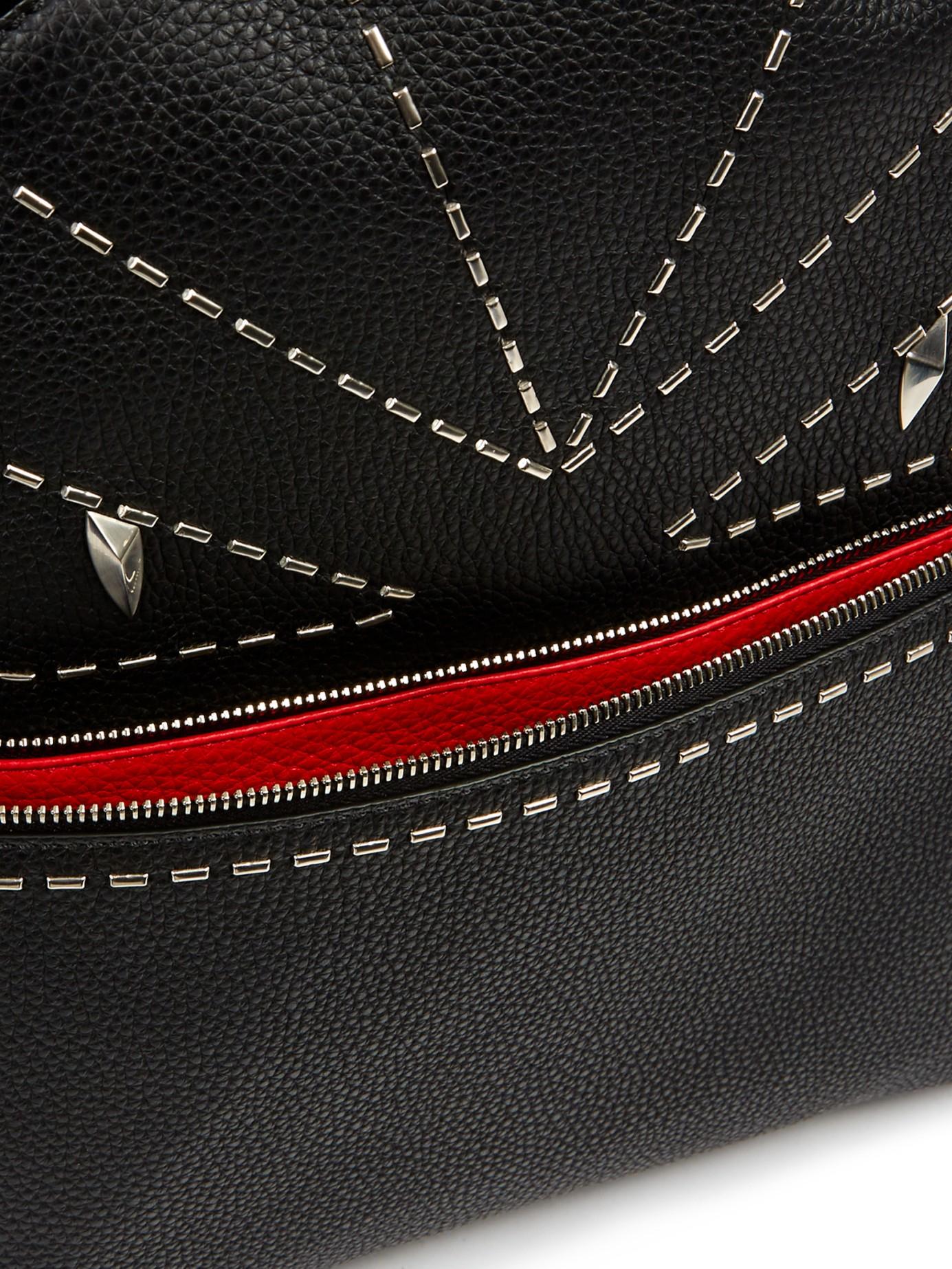 Lyst - Fendi Bag Bugs Selleria Roman Leather Backpack in Black for Men 23c912250e3d2