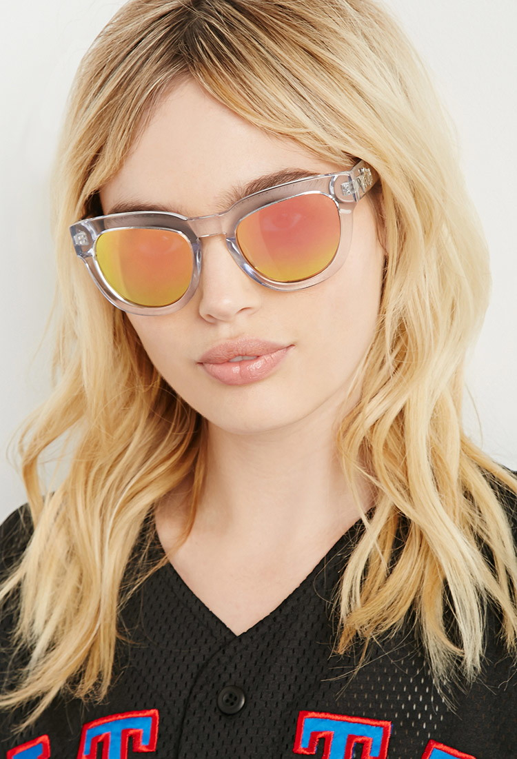 a5a19ead025 Lyst - Forever 21 Married To The Mob Kiki Crystal Clear Sunglasses
