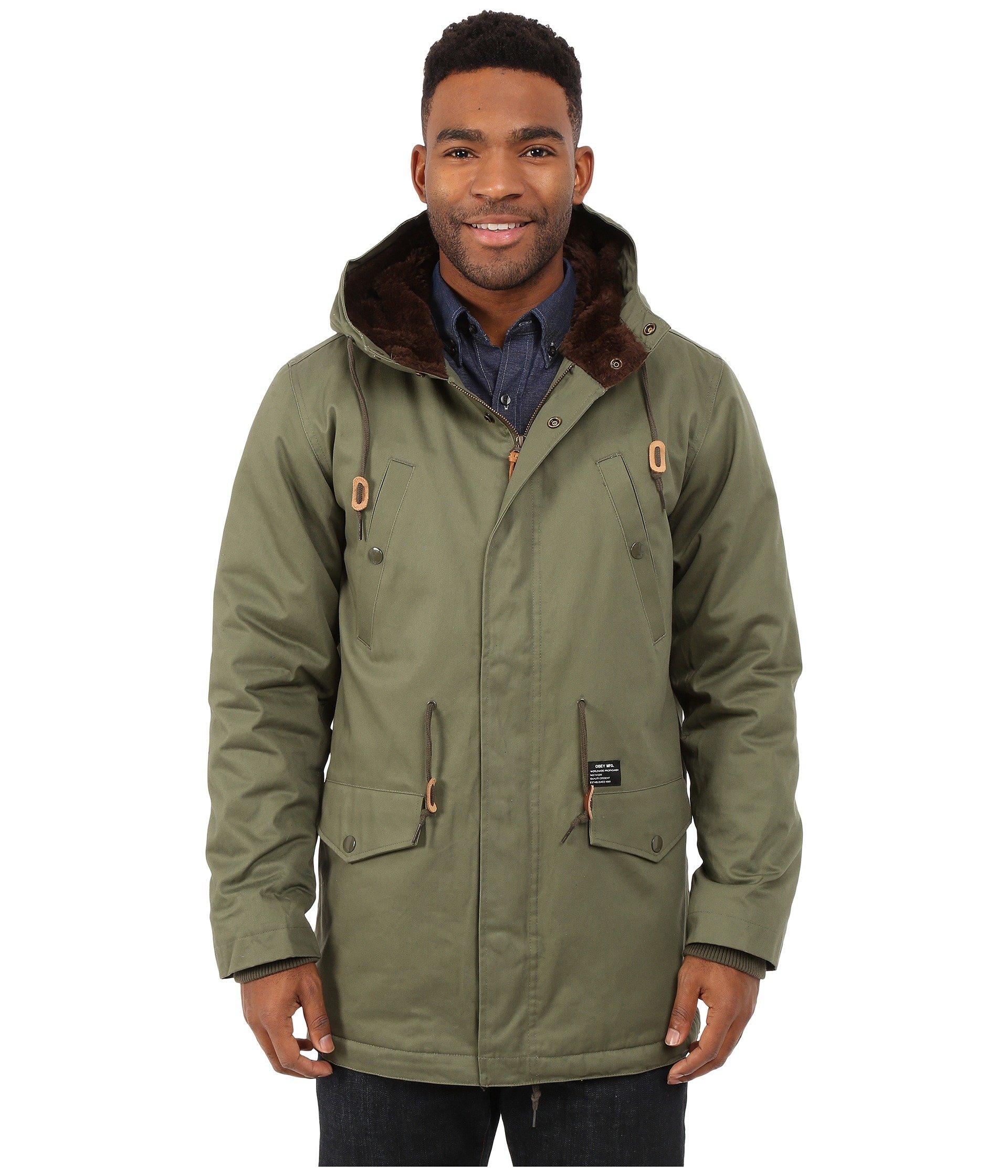 Obey Ransack Parka Jacket in Green for Men | Lyst