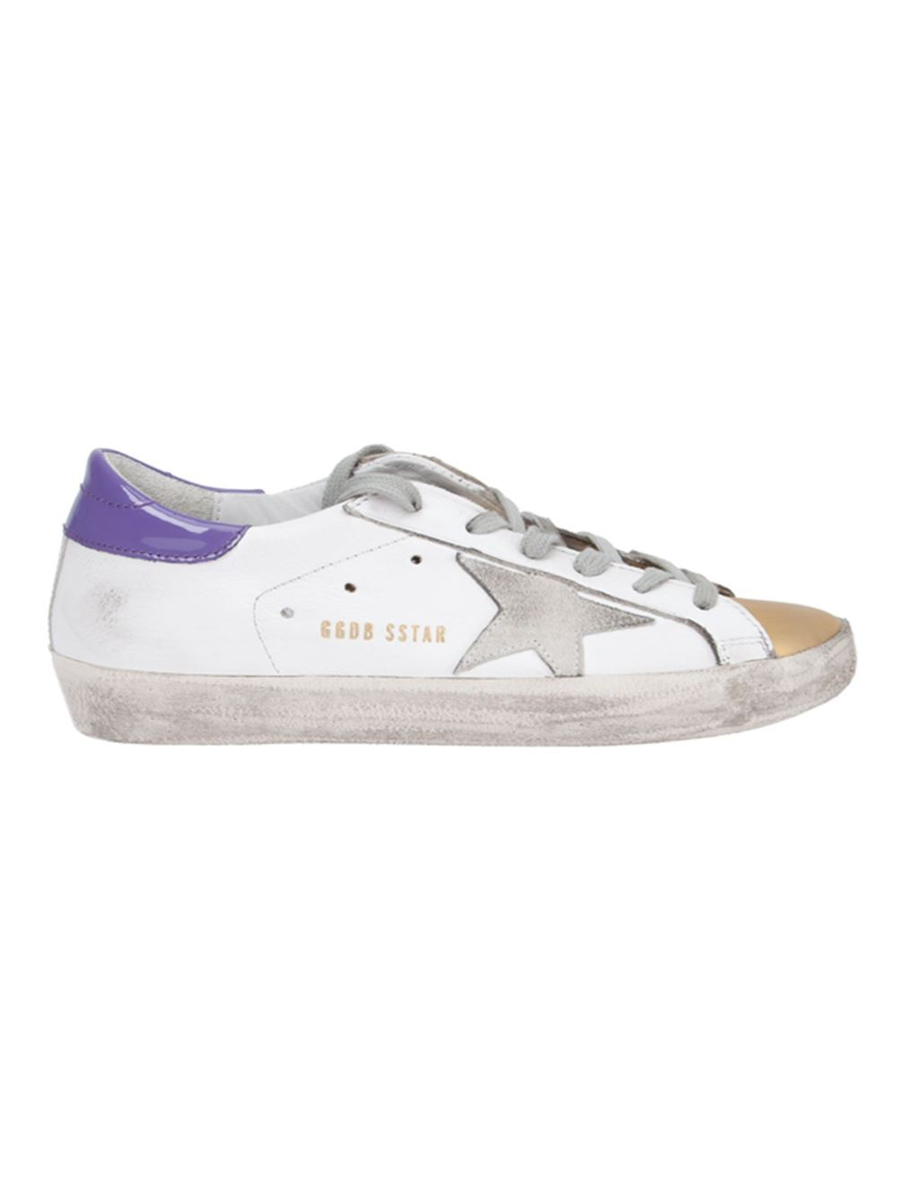 lyst golden goose deluxe brand 39 super star 39 sneakers in purple. Black Bedroom Furniture Sets. Home Design Ideas