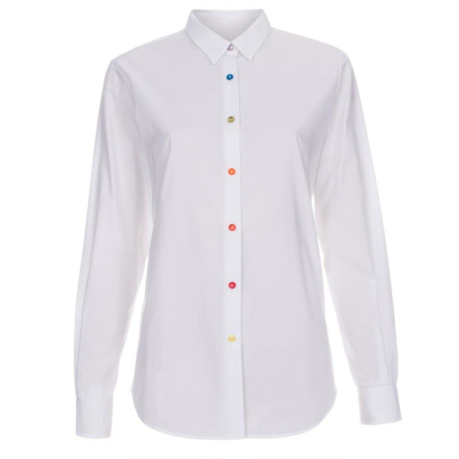 Paul smith Women's White Cotton Shirt With Multi-coloured Buttons ...