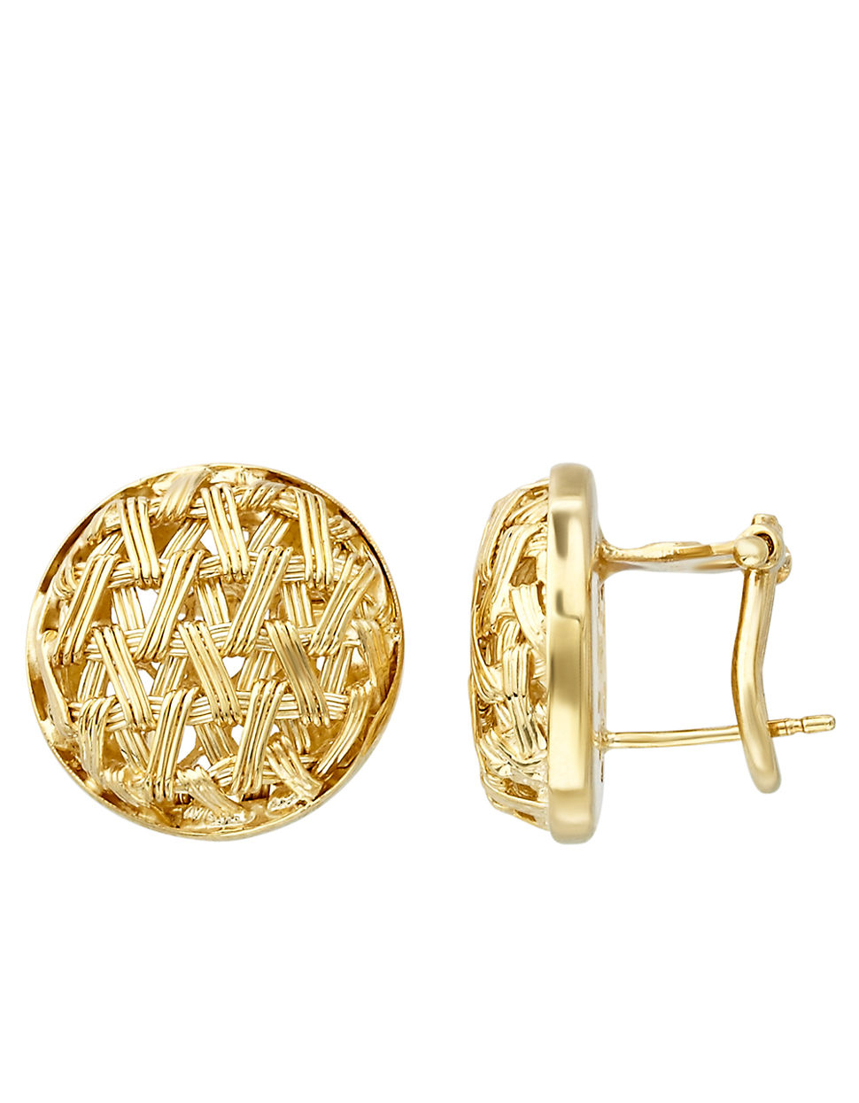 Gallery Previously Sold At Lord Taylor Lyst 14k Yellow Gold Basket Weave Earrings