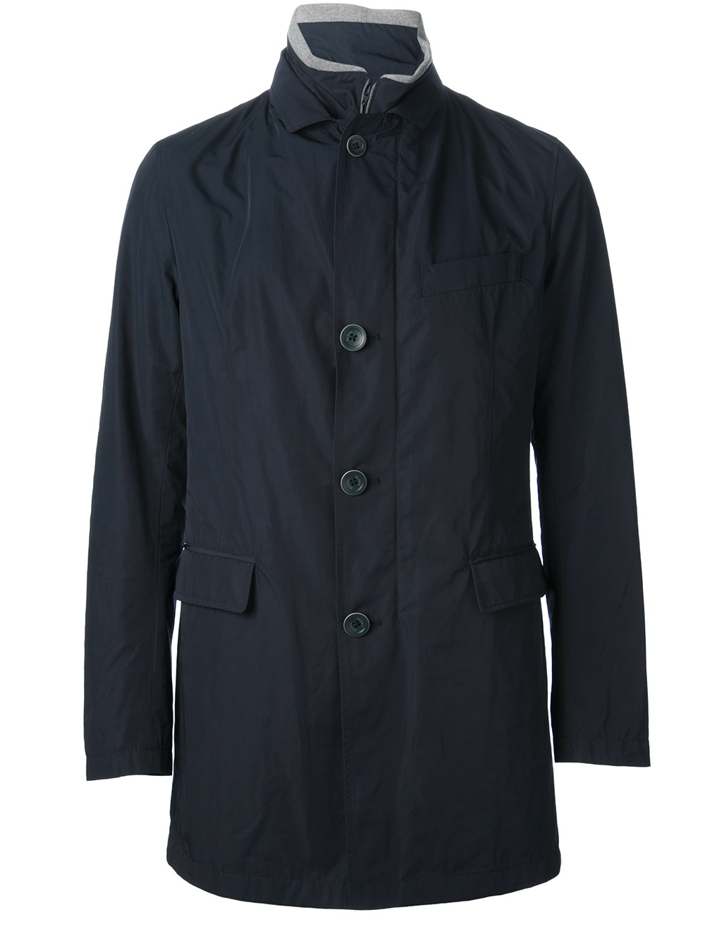 Herno Button Up Jacket in Blue for Men