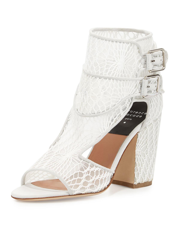 85712c0e820 Lyst - Laurence Dacade Rush Macrame Mesh Sandal in White