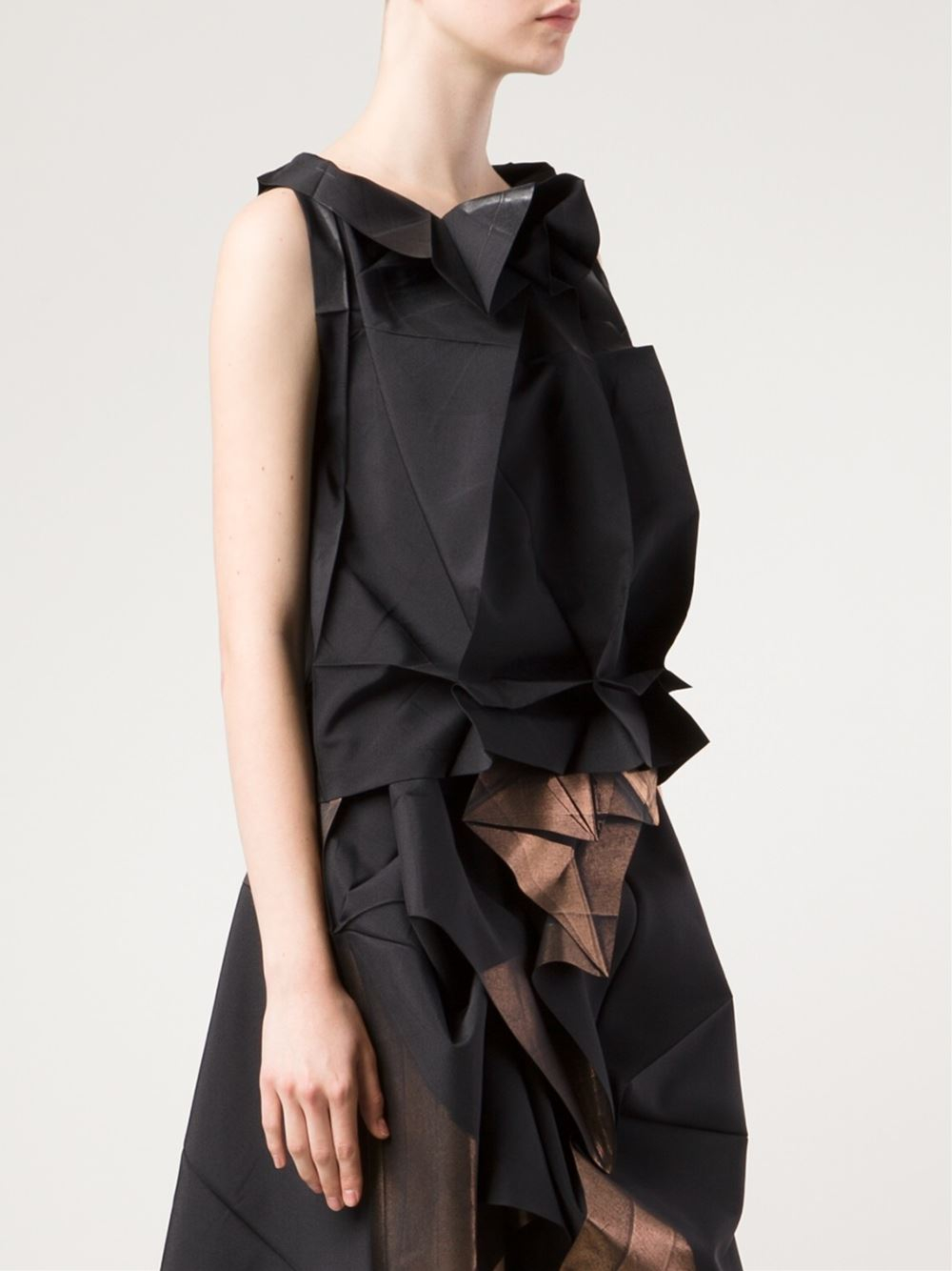 132 Best Images About Xdress On Pinterest: 132 5. Issey Miyake Origami Style Sleeveless Top In