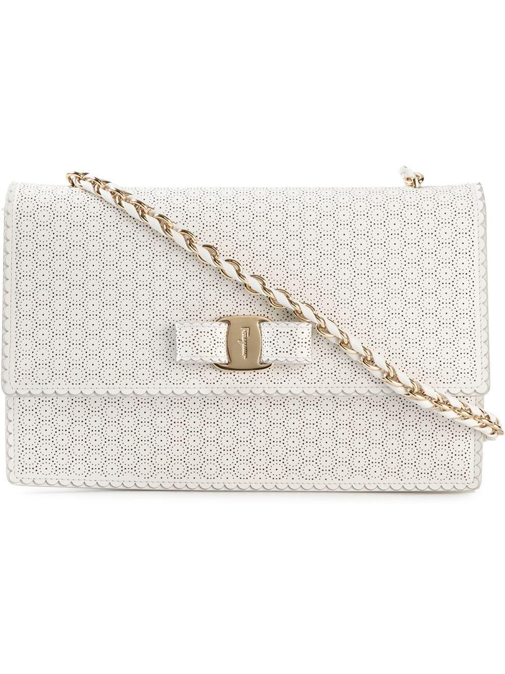 ... release date 5b50c cf540 Lyst - Ferragamo Ginny Calf-leather Cross-body  Bag in ... 5fa8fdd267