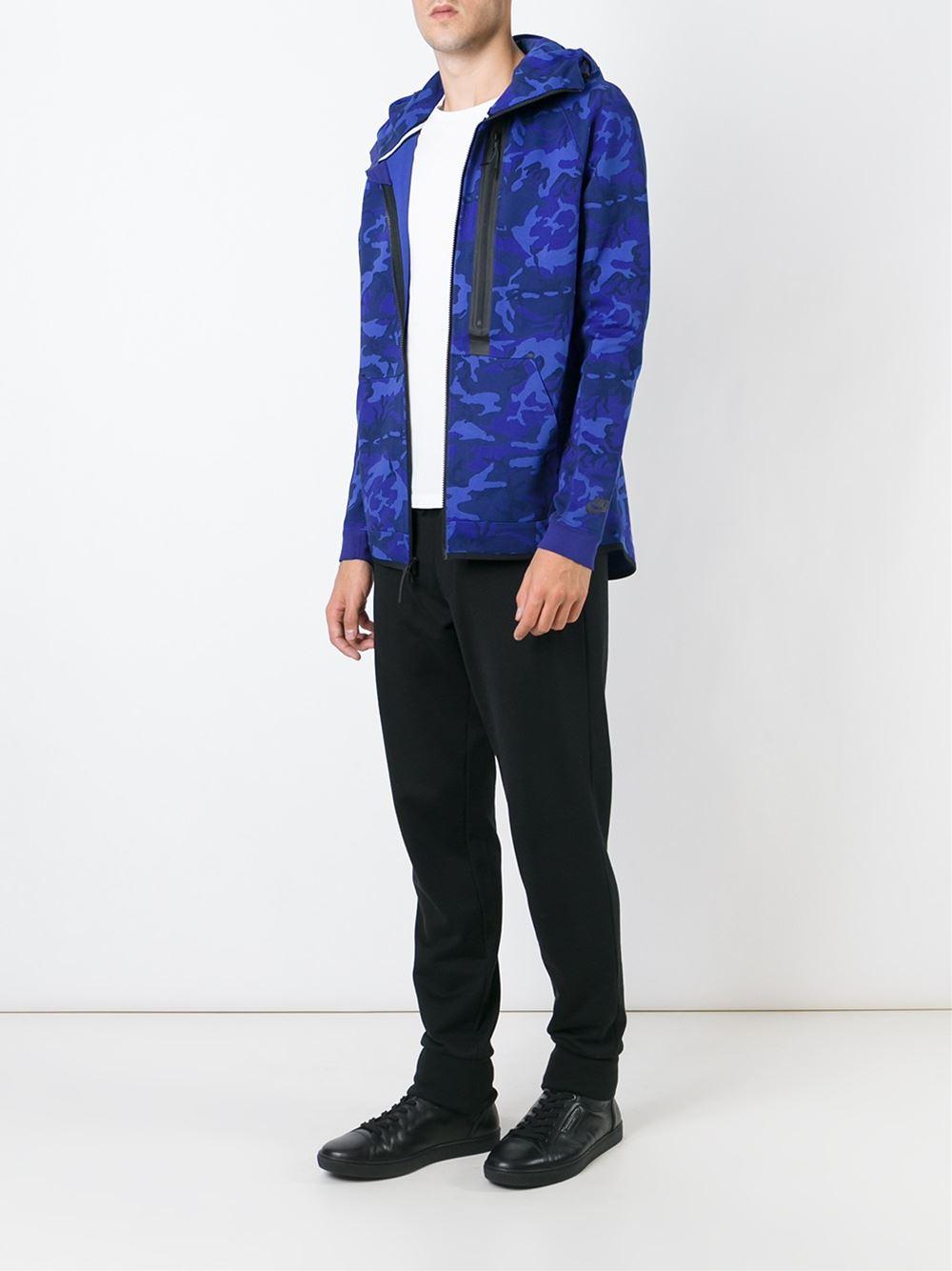 Lyst - Nike  tech Fleece  Hoodie in Blue for Men 2e241d80b07b