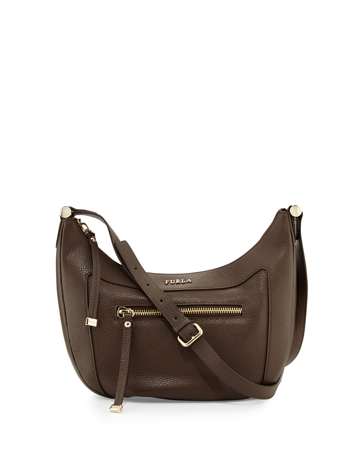Furla Ginevra Small Leather Crossbody Bag in Brown | Lyst