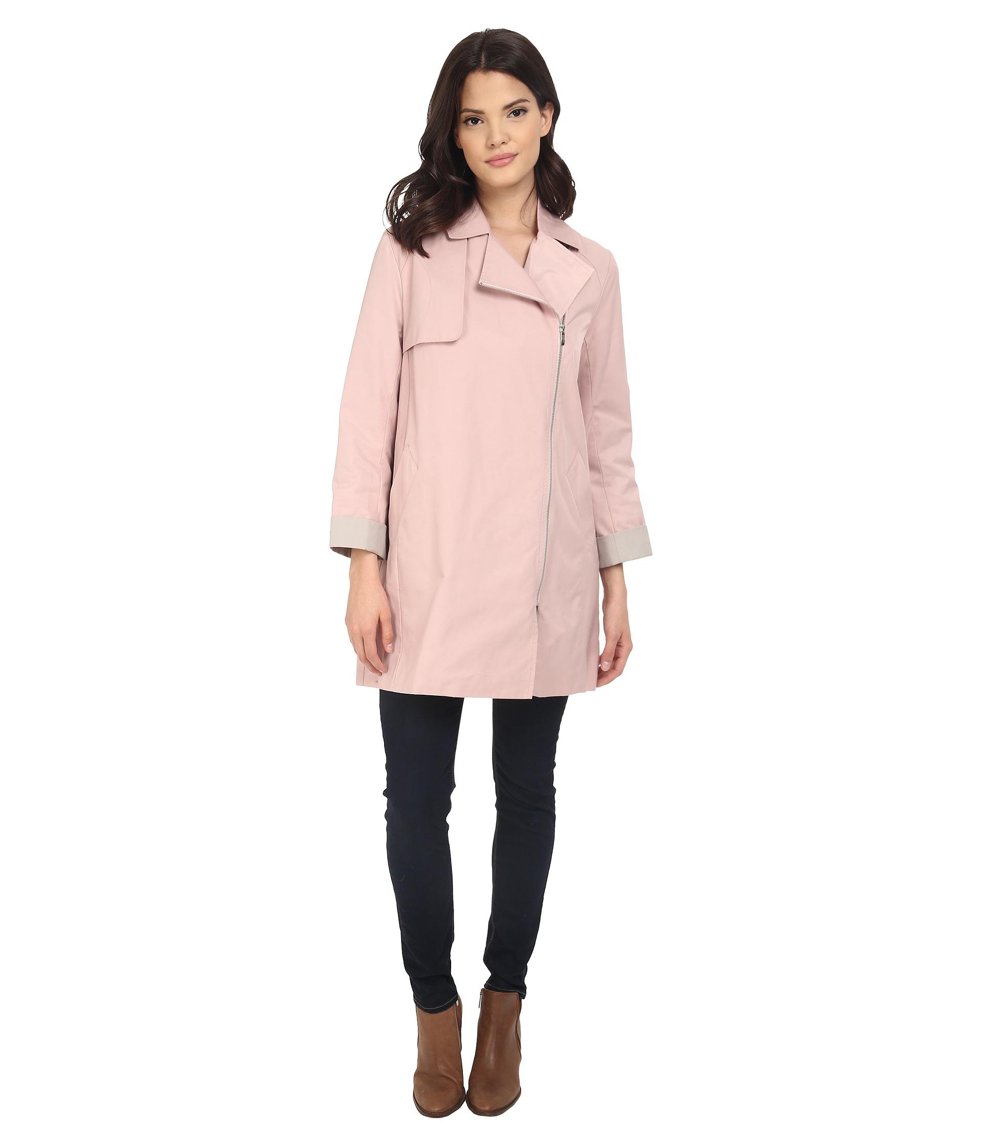 Cole haan Moto Swing Coat in Pink - Save 50%   Lyst