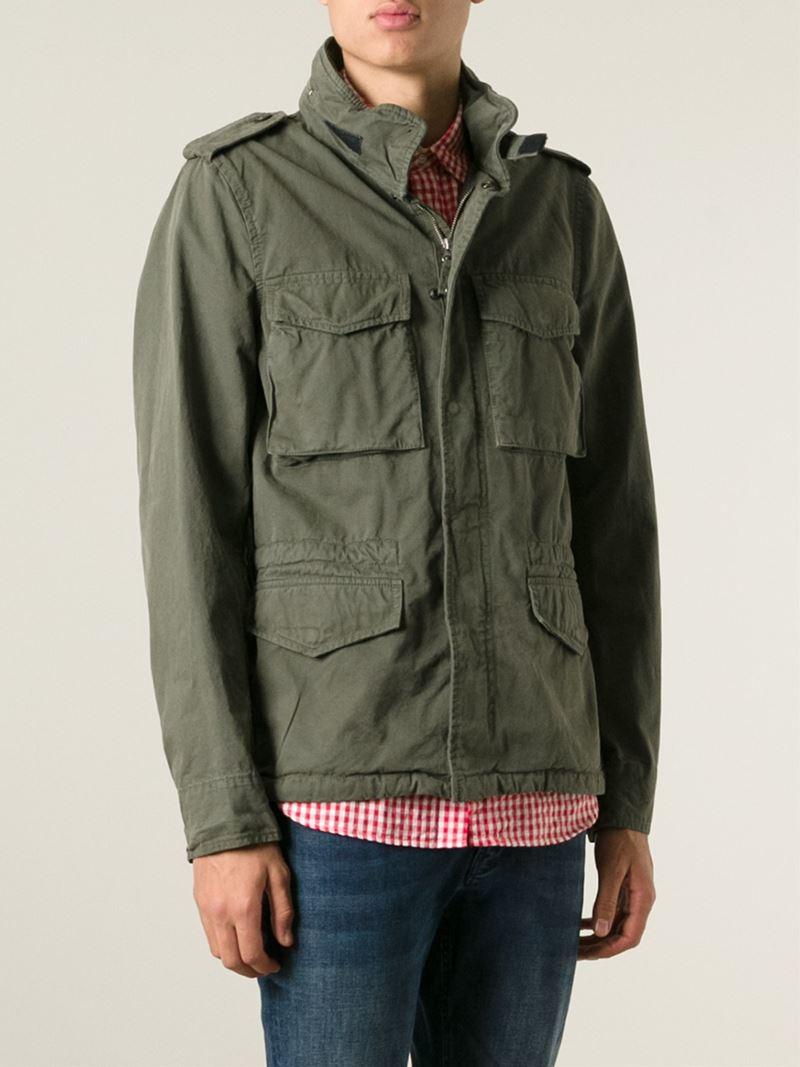 Aspesi Chest Pocket Military Jacket In Natural For Men Lyst