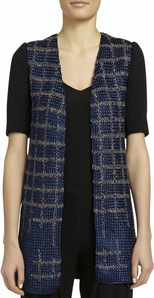 Knitting Pattern For Short Sleeved Jacket : Maiyet Short Sleeve Knit Front Jacket in Multicolor (Navy) Lyst