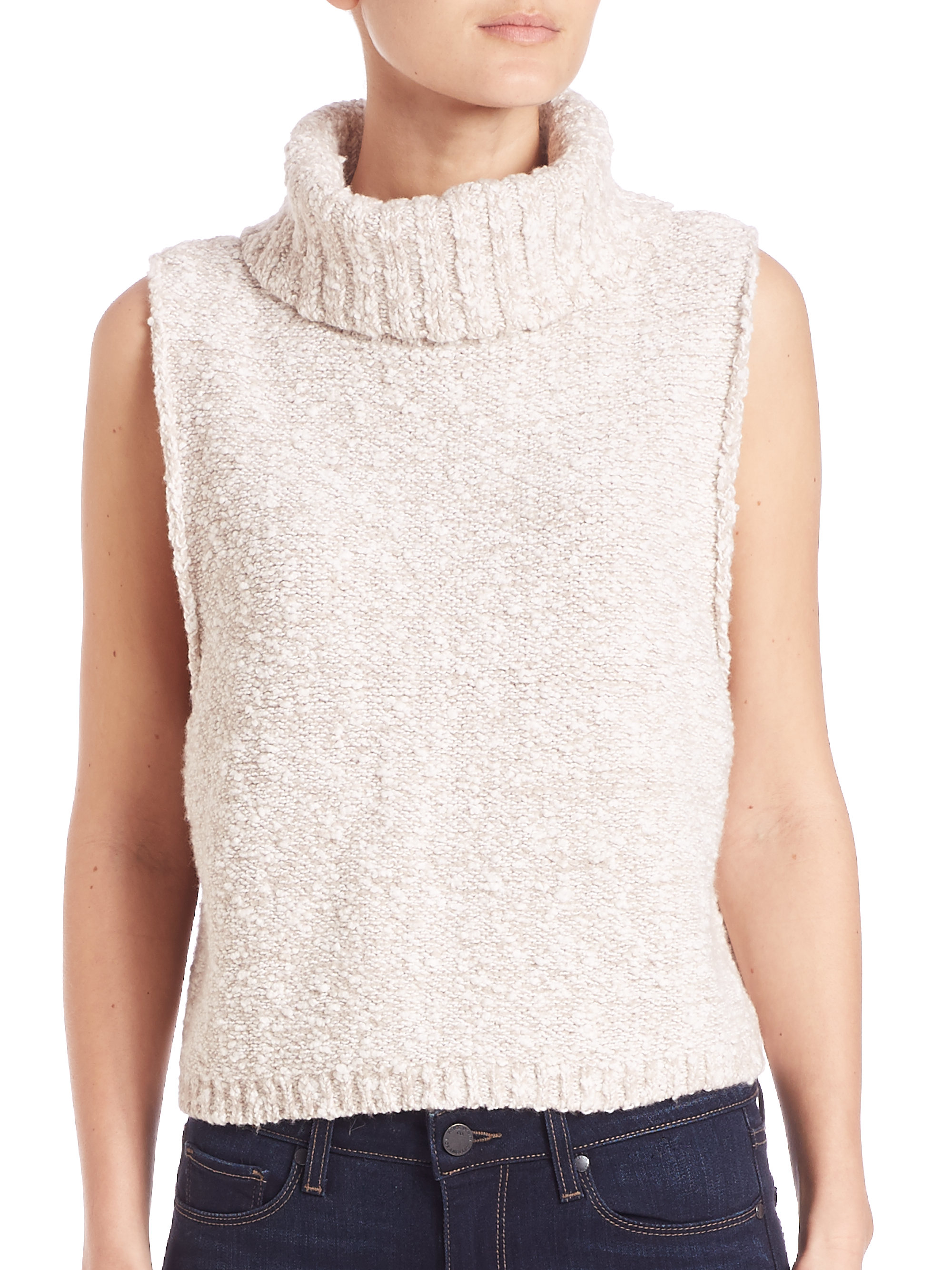 Free people Little White Lies Sweater Vest in Natural | Lyst