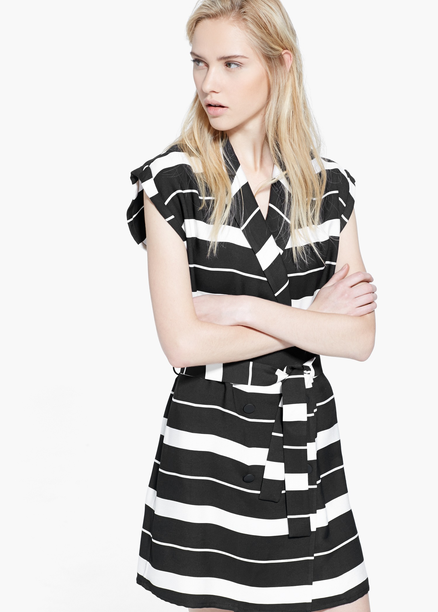 57c0baac86 Lyst - Mango Double-Breasted Dress in Black