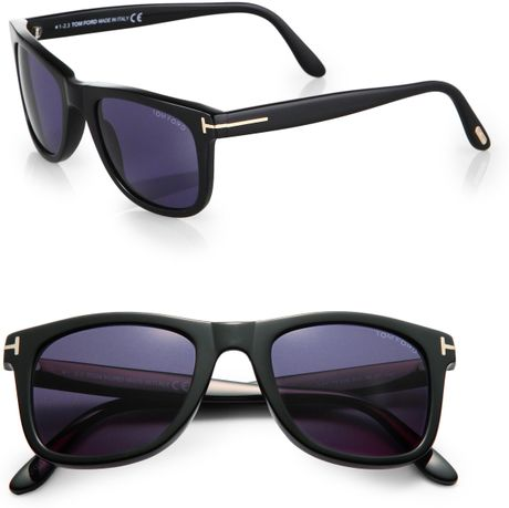 tom ford leo wayfarer sunglasses in black for men. Cars Review. Best American Auto & Cars Review