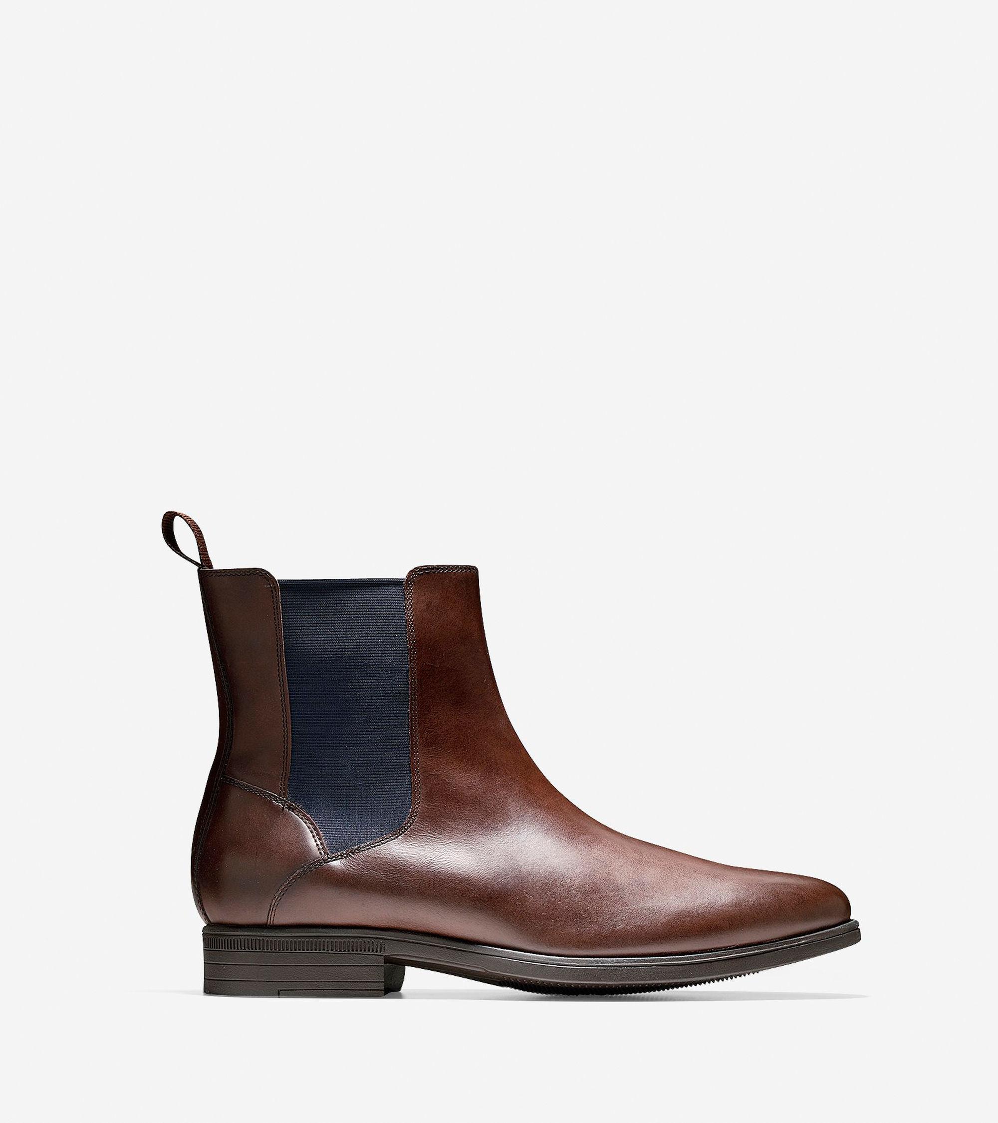 cole haan waterproof chelsea boot in brown for