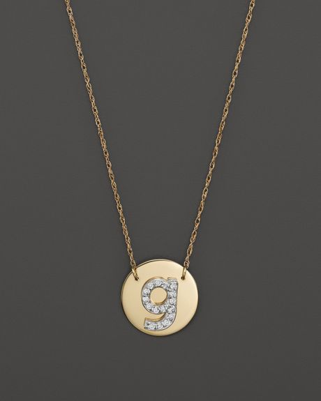 basch 14k yellow gold circle disc pendant necklace
