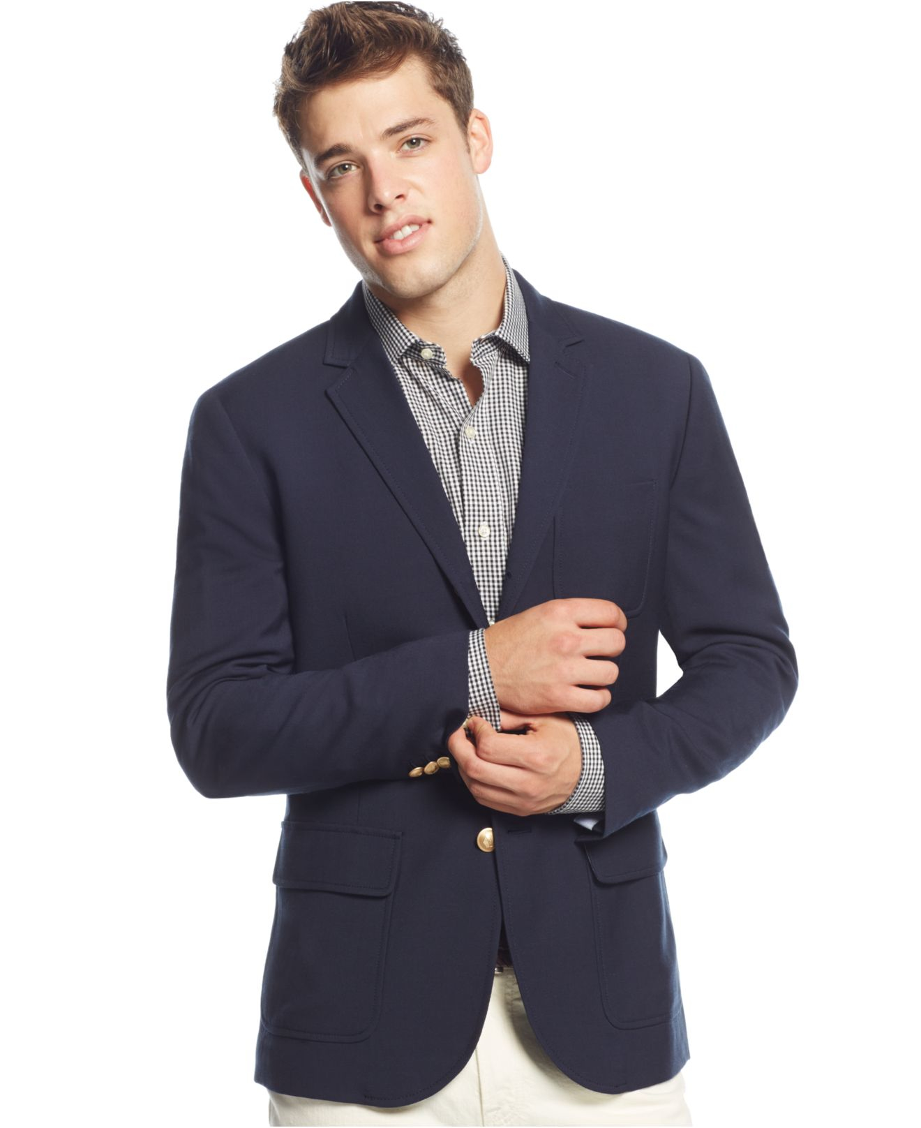 Tommy Hilfiger Cerruti Navy Two Button Blazer In Blue For