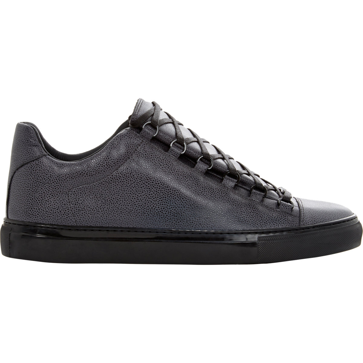 lyst balenciaga arena low top sneakers in gray for men. Black Bedroom Furniture Sets. Home Design Ideas