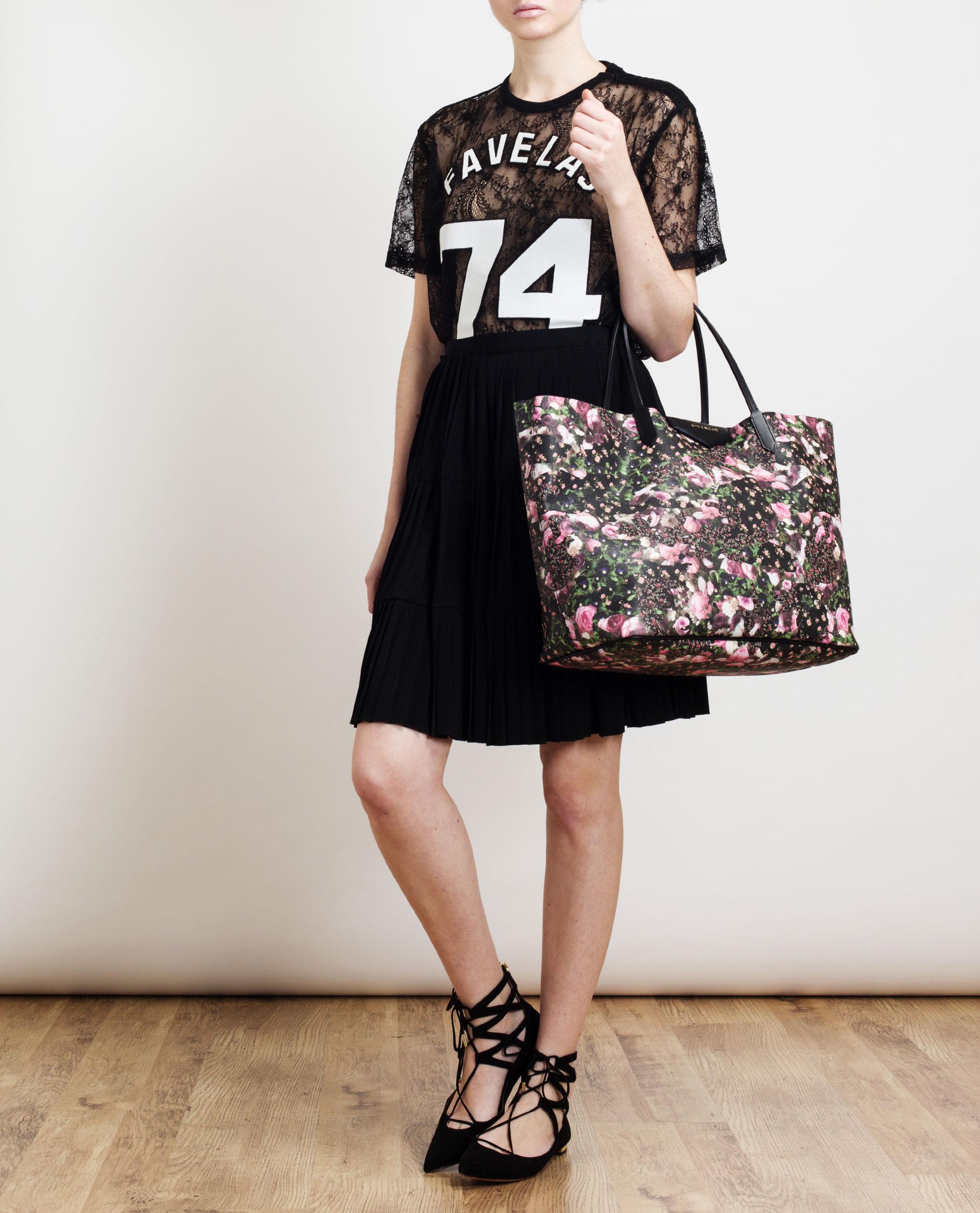5f6b45b0bd763 Givenchy Antigona Abstract Floral Leather Tote Bag - Lyst