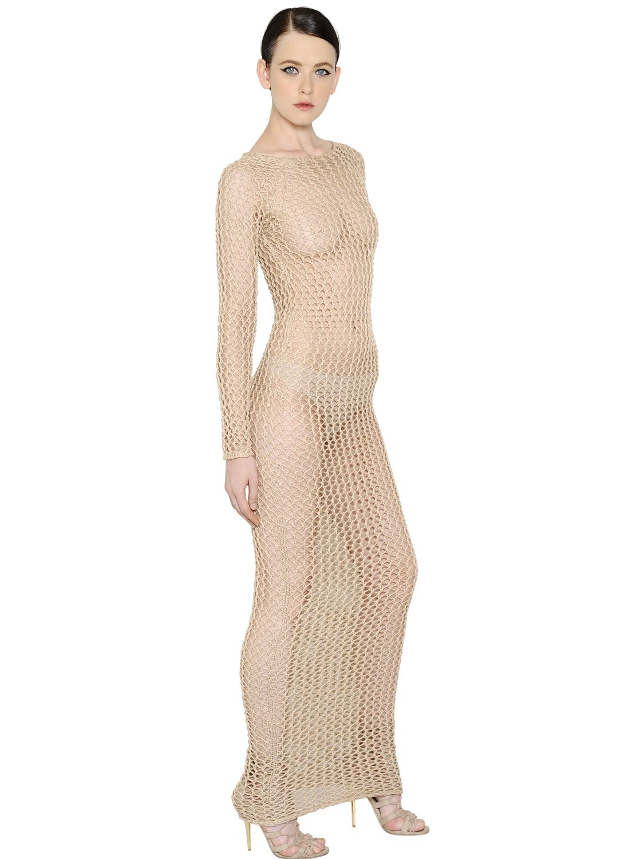 Knitted cotton dress Balmain Y450mr