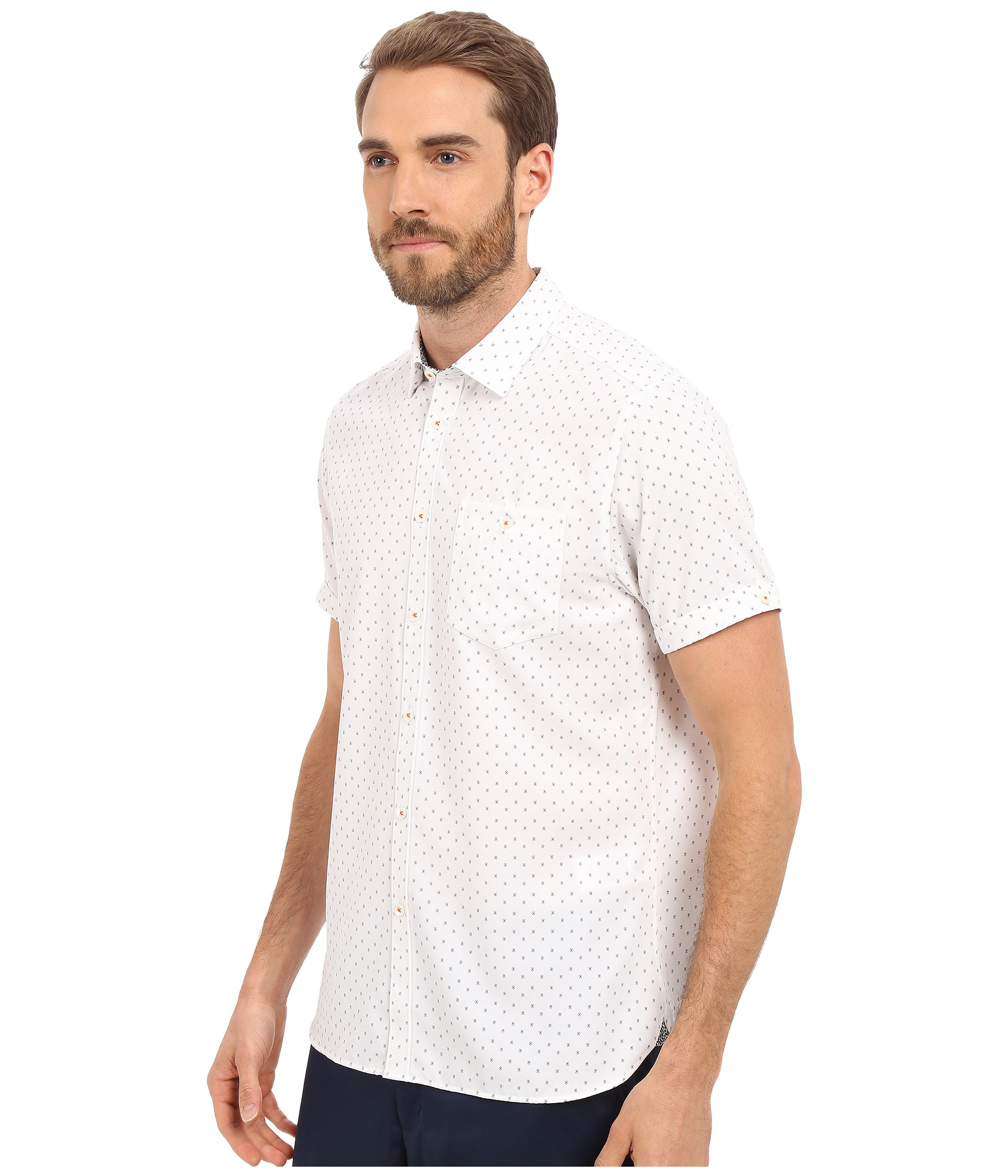b89250a45a96 Lyst - Ted Baker Everyone Short Sleeve Modal Shirt in White for Men