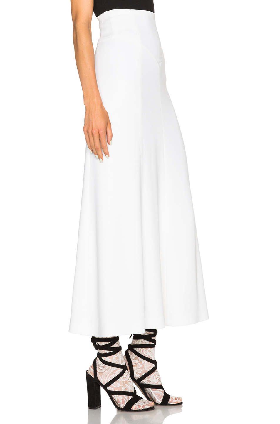 alessandra rich high waisted skirt in white lyst