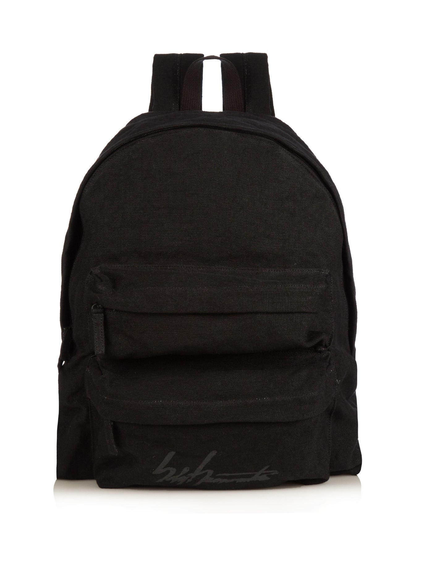 6bdf124f7f Lyst - Yohji Yamamoto Logo-printed Linen Backpack in Black for Men